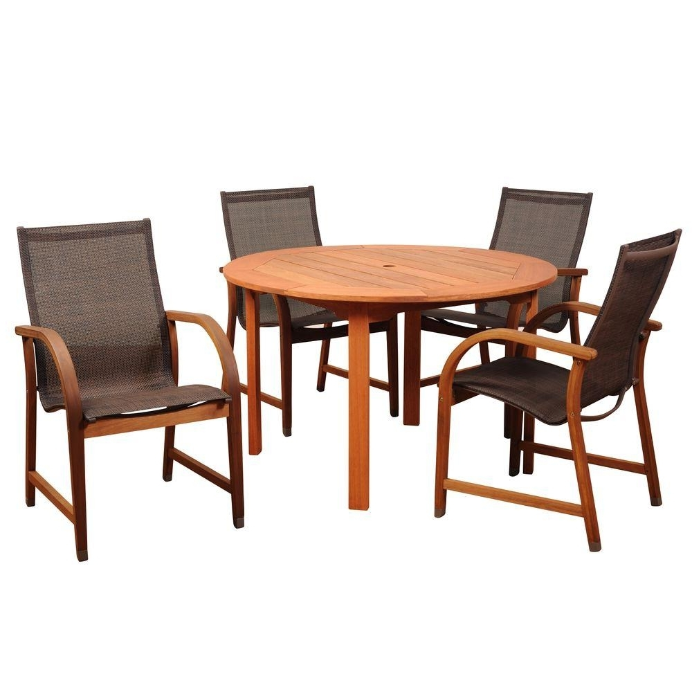 Most Up To Date Market 6 Piece Dining Sets With Host And Side Chairs With Regard To Patio Dining Sets – Patio Dining Furniture – The Home Depot (Gallery 13 of 25)