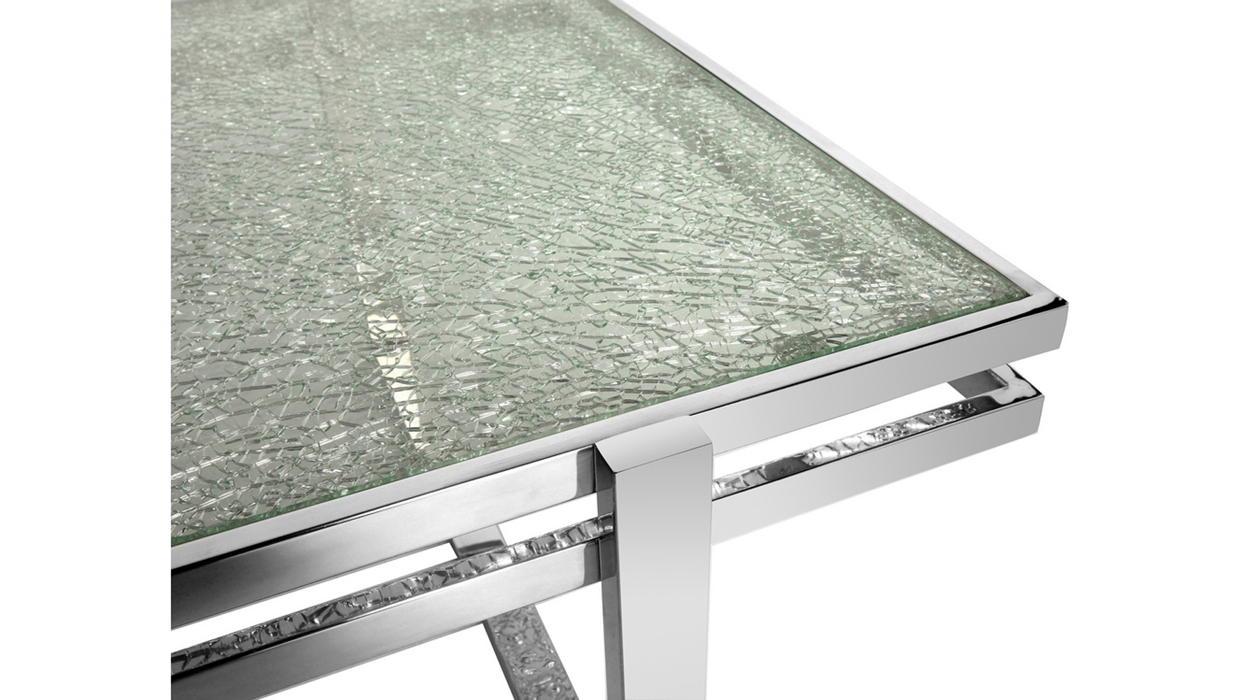 Most Up To Date Mosaic Dining Tables For Sale Pertaining To Mosaic Dining Table Cracked Glass Top Stainless Steel Bas (View 19 of 25)