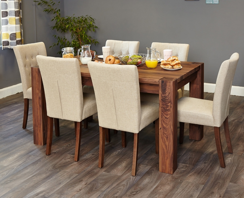 Most Up To Date Oak 6 Seater Dining Tables In Walnut 150Cm Dining Table (4/6 Seater) – Oak Furniture Direct (View 12 of 25)