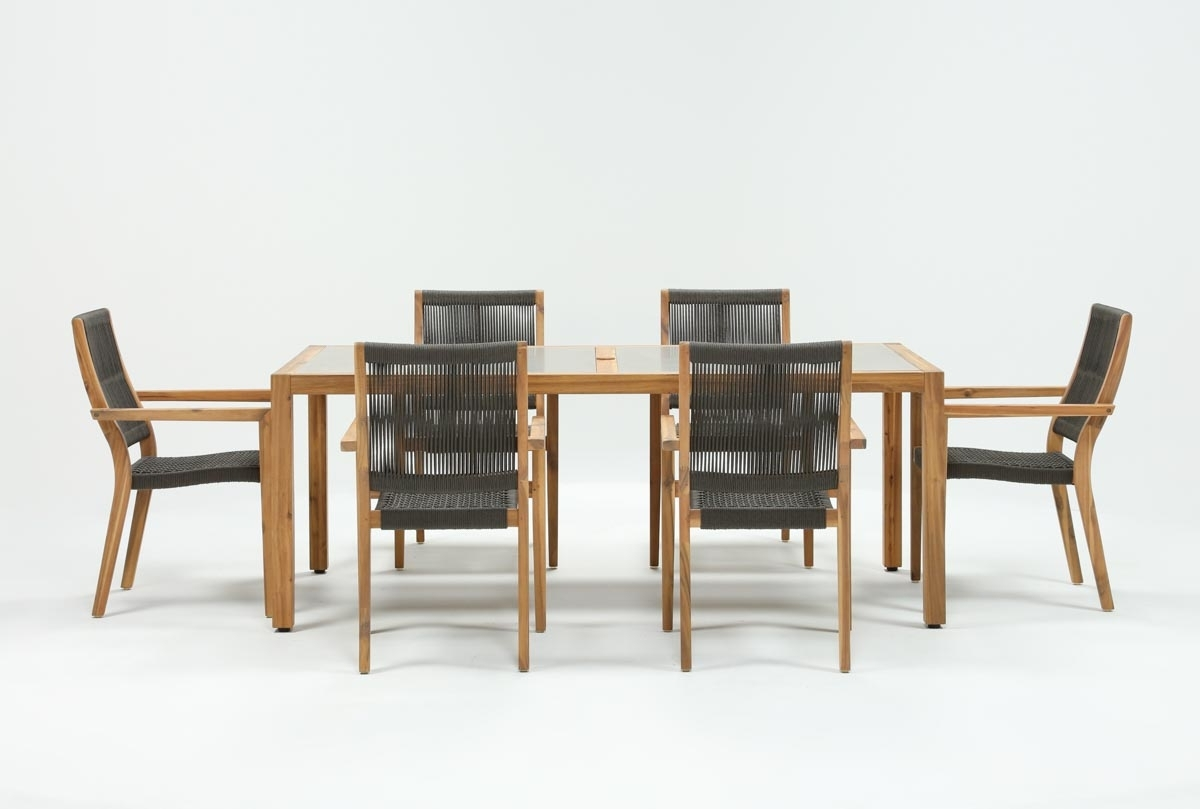 Most Up To Date Outdoor Sienna Dining Tables With Regard To Outdoor Sienna Dining Table With 6 Arm Chairs (View 10 of 25)