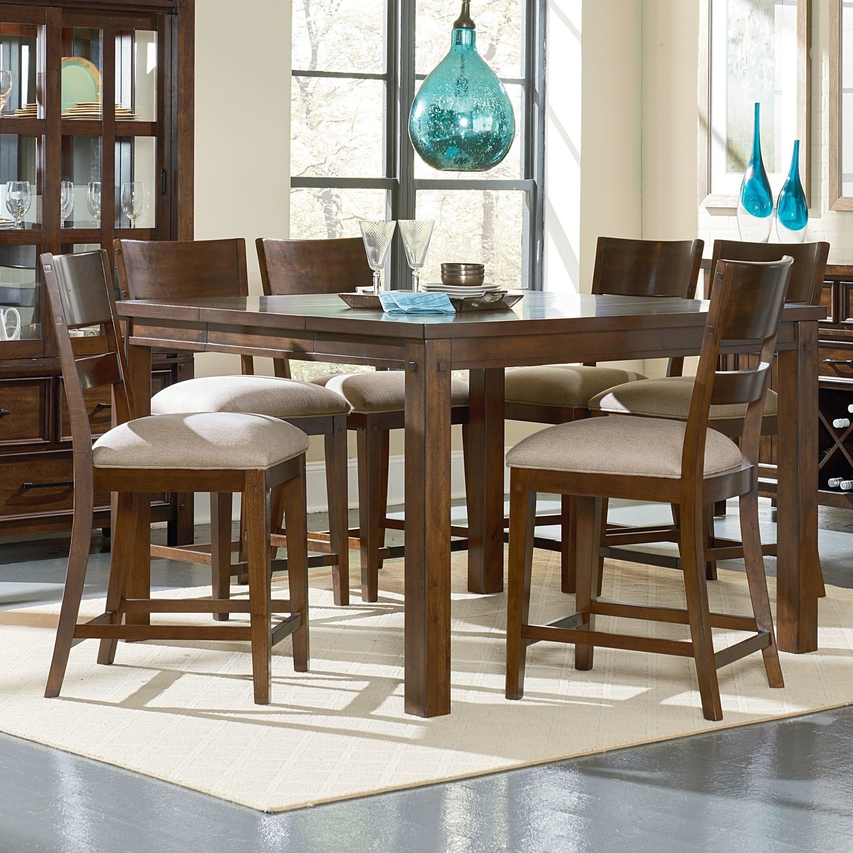 Most Up To Date Parquet 7 Piece Dining Sets Inside Square Dining Table For 6 – Visual Hunt (View 13 of 25)