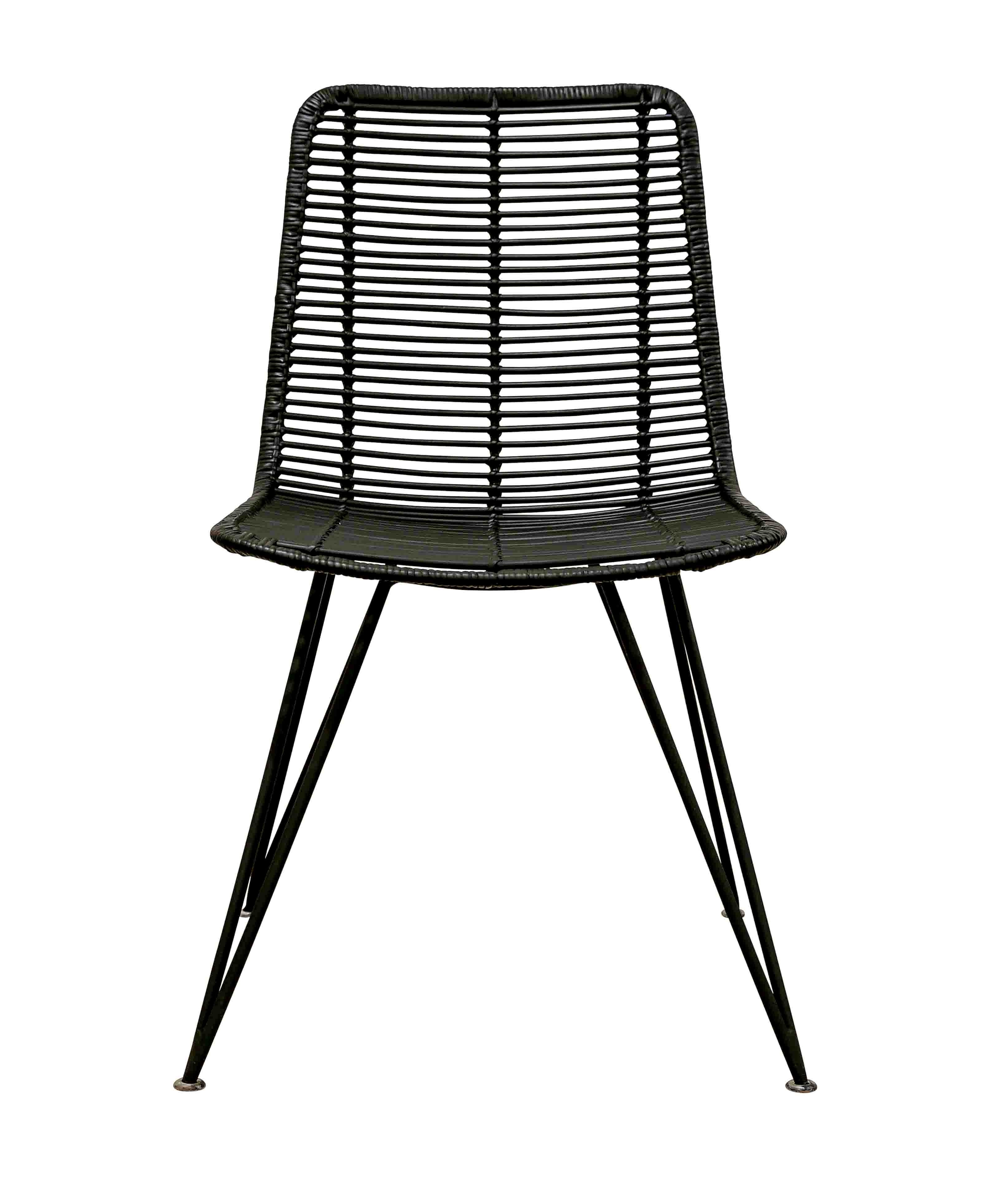 Most Up To Date Rattan Weave Dining Chair Black (Gallery 15 of 25)