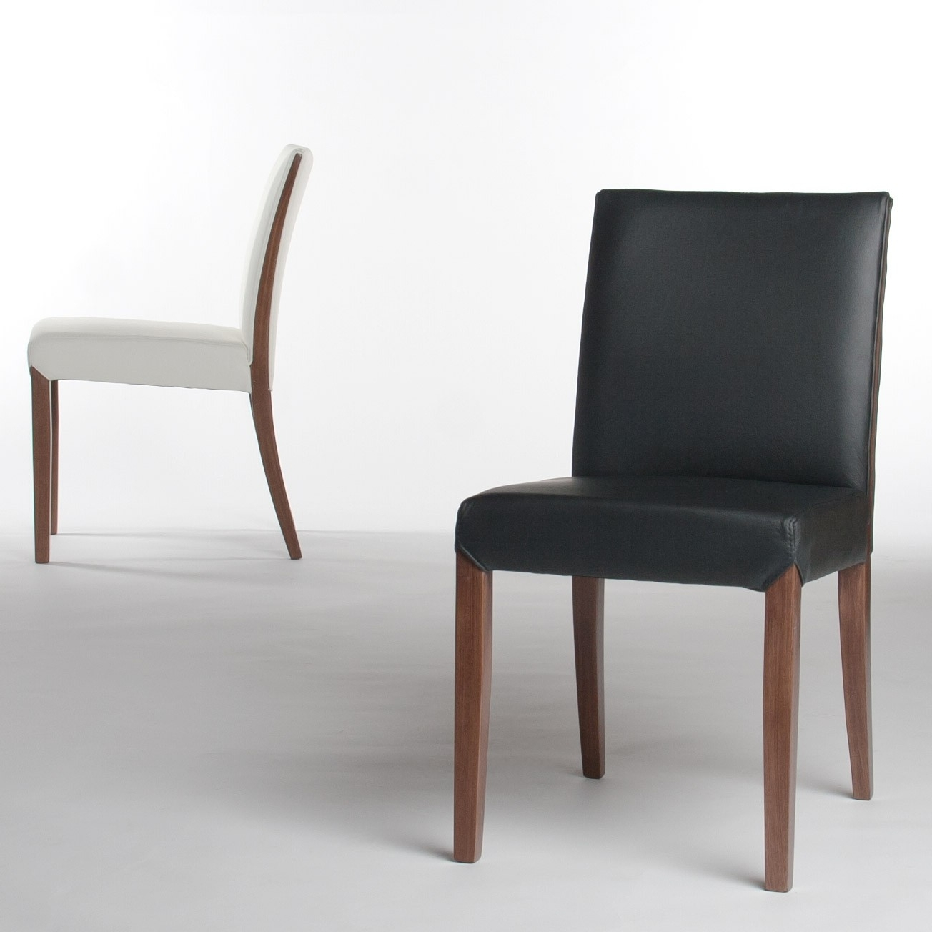 Most Up To Date Real Leather Dining Chairs Regarding Real Leather Dining Chair In Black (View 11 of 25)