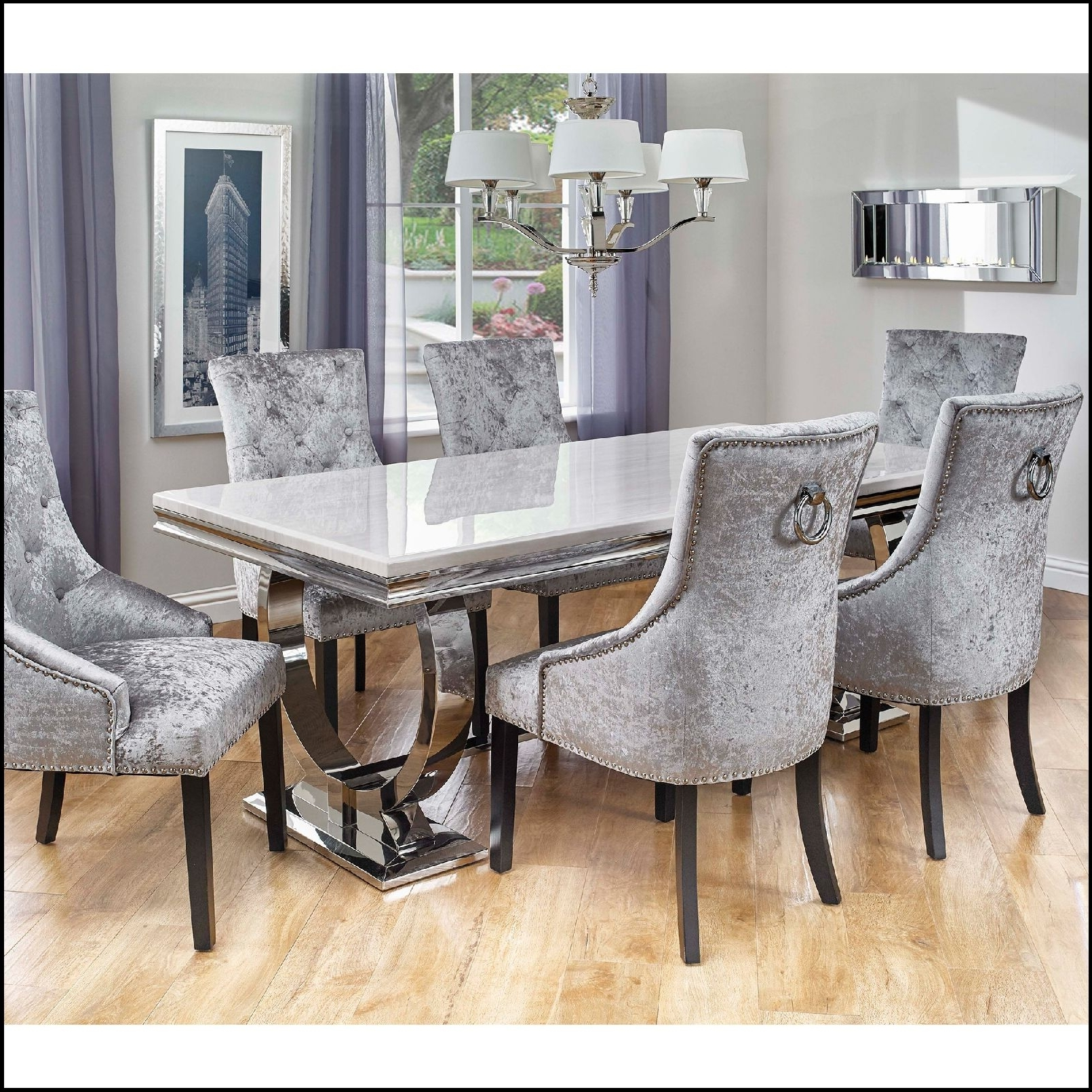 Most Up To Date Rectangular Dinette Kitchen Dining Set Table 6 Chairs Kitchen With In Dining Tables With 6 Chairs (Gallery 2 of 25)