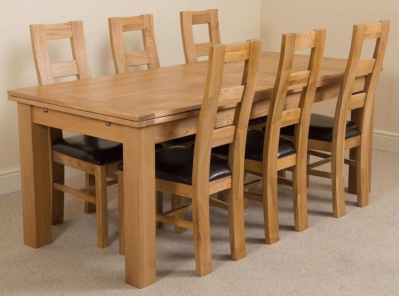 Most Up To Date Richmond Oak Dining Set (220 280Cm) 6 Yale Chairs With Solid Oak Dining Tables And 6 Chairs (View 10 of 25)