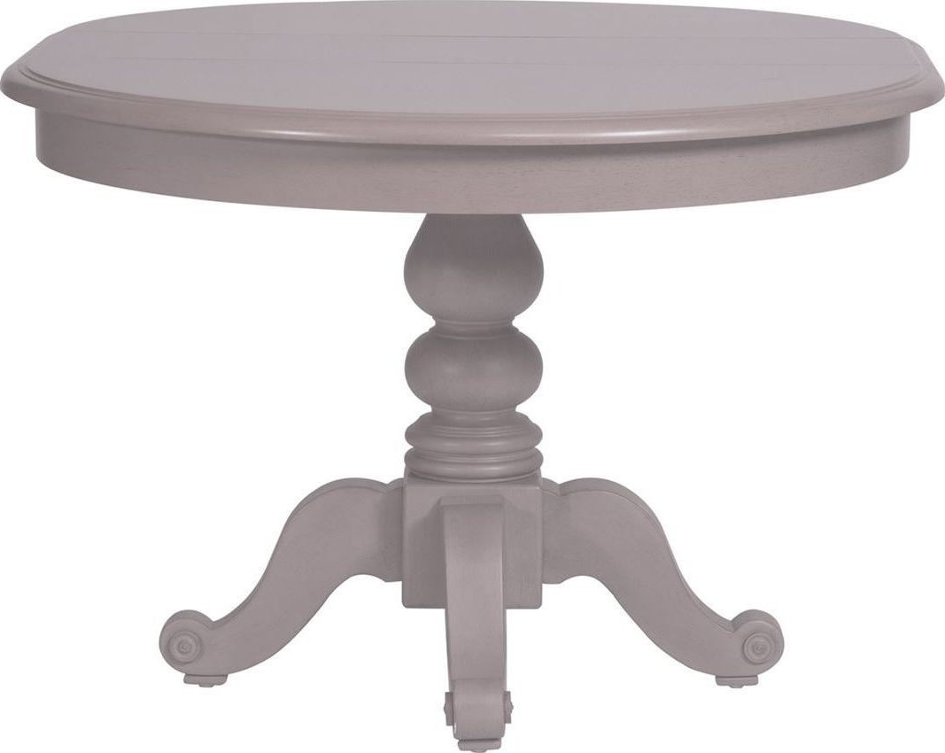 Most Up To Date Round Extendable Dining Tables Within Summer House Dove Grey Round Extendable Dining Table From Liberty (View 15 of 25)