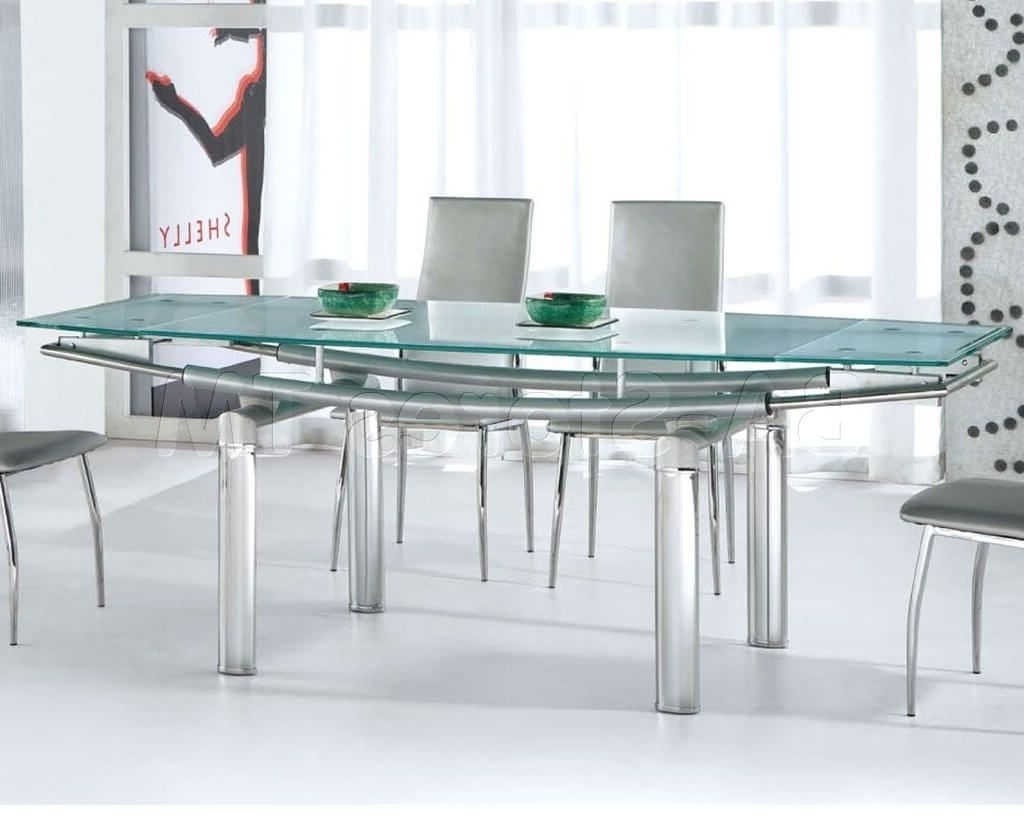 Most Up To Date Smoked Glass Dining Tables And Chairs Intended For Furniture: Glass Top Dining Table For Modern Dining Room – Round (Gallery 17 of 25)