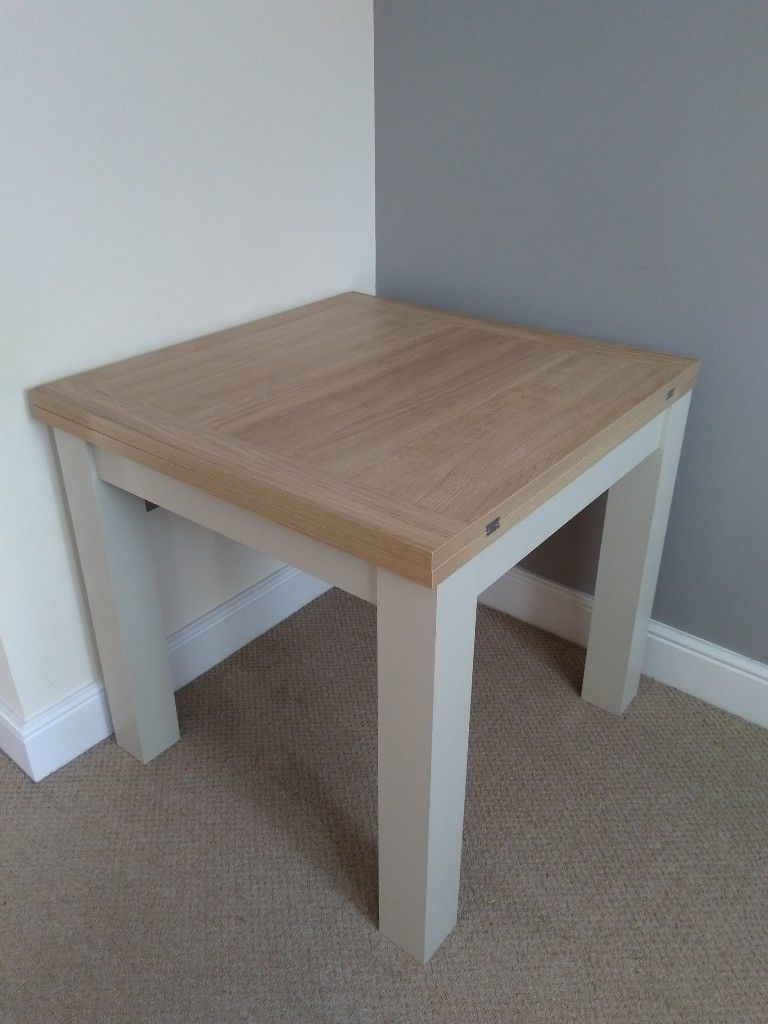 Most Up To Date Square Oak Dining Tables In Malvern 4 6 Seater Square To Rectangle Dining Table Cream Oak Effect (View 14 of 25)
