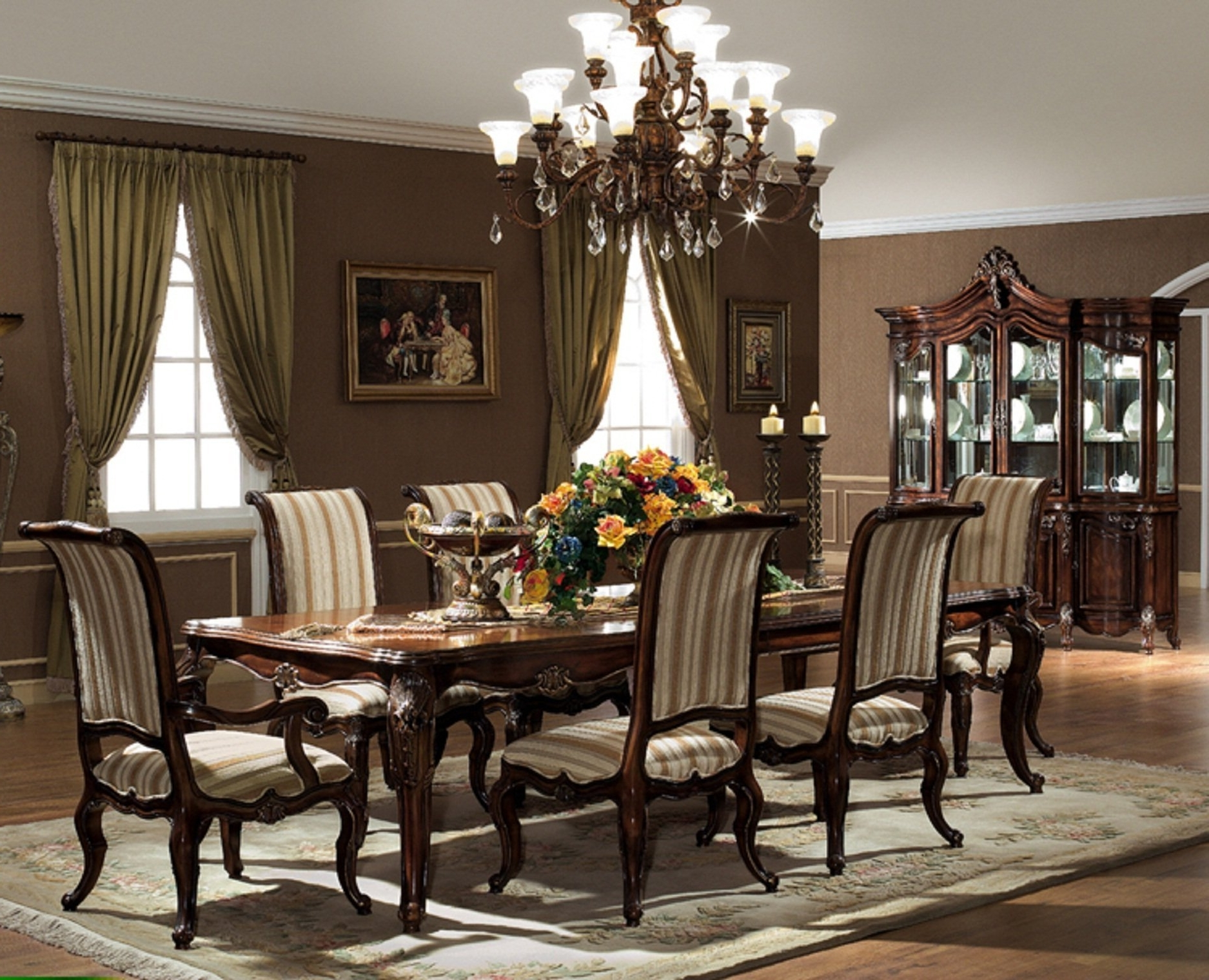 Most Up To Date Valencia 5 Piece Round Dining Sets With Uph Seat Side Chairs Throughout The Valencia Formal Dining Room Collection – (View 4 of 25)