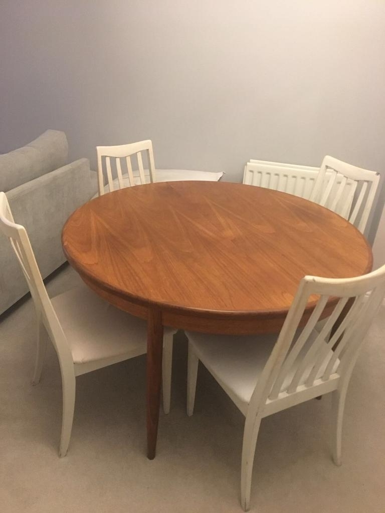 Most Up To Date Vintage G Plan Round Extending To Oval 1960S Dining Table And Chairs Intended For Round Dining Tables Extends To Oval (View 12 of 25)