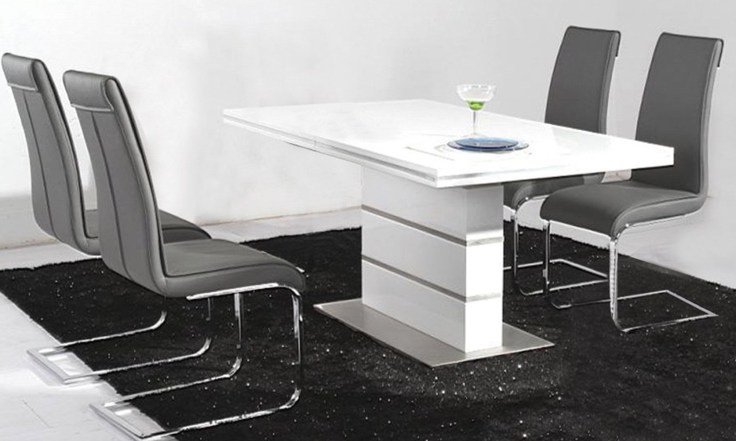 Most Up To Date White High Gloss Dining Tables Within Dolores White High Gloss Dining Table – Furco (View 25 of 25)