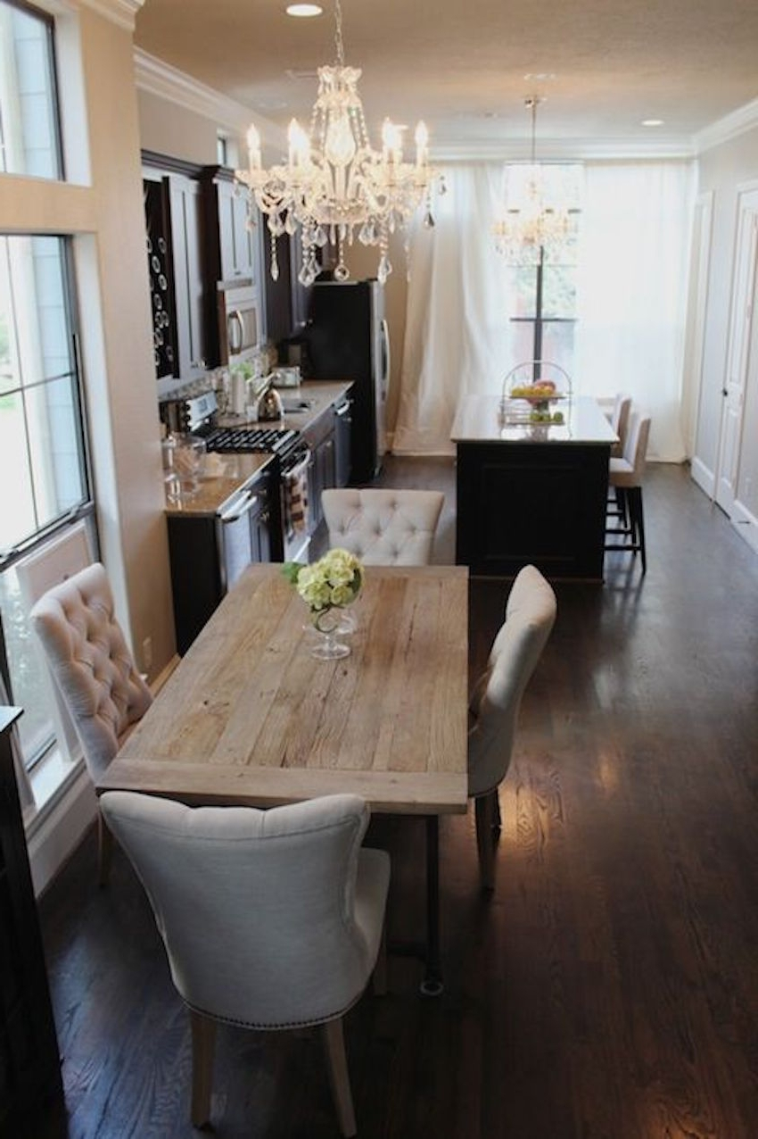 Narrow Dining Tables For Fashionable The Best Narrow Dining Table For A Small Dining Room (Gallery 4 of 25)
