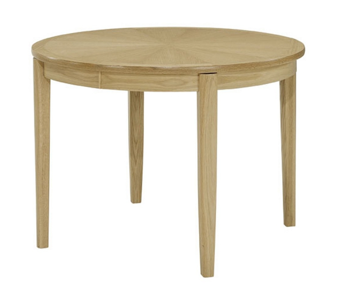 Nathan Shades Oak 2135 Circular Dining Table On Legs – Dining Tables Pertaining To Most Popular Circular Dining Tables (View 18 of 25)