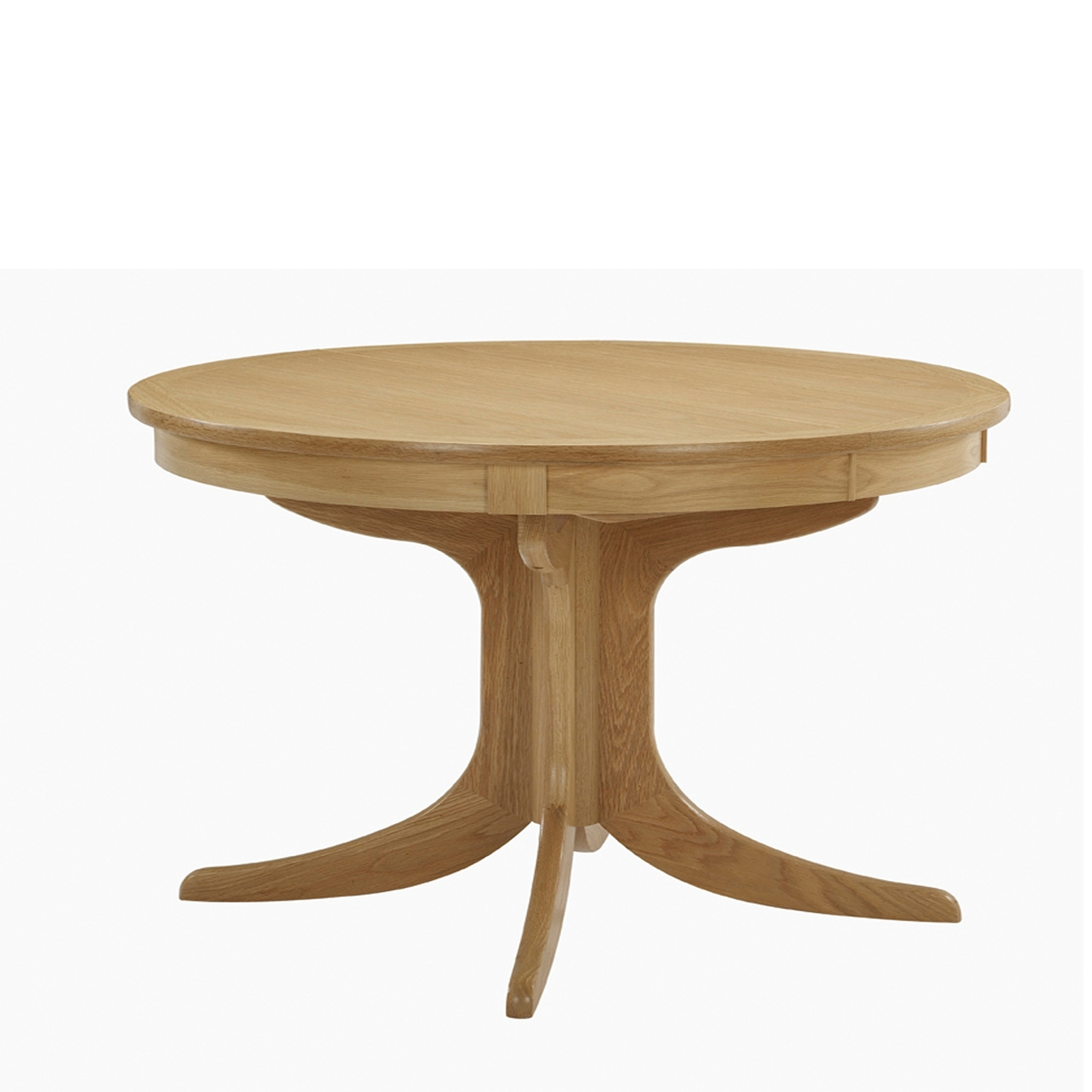 Nathan Shades Oak Circular Pedestal Dining Table – Nathan – Cookes For Well Known Circular Oak Dining Tables (Gallery 6 of 25)
