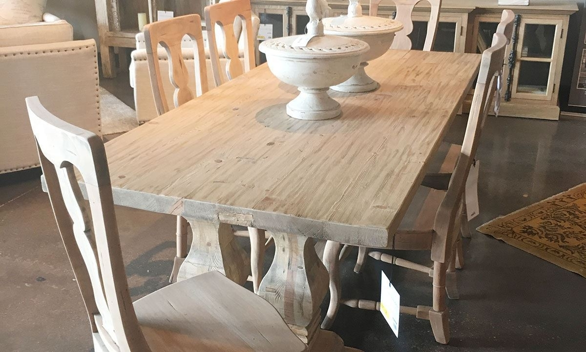 Natural Wood & Recycled Elm 87 Inch Dining Tables Regarding Preferred Manor House Reclaimed Pine & Elm Trestle Table (View 7 of 25)