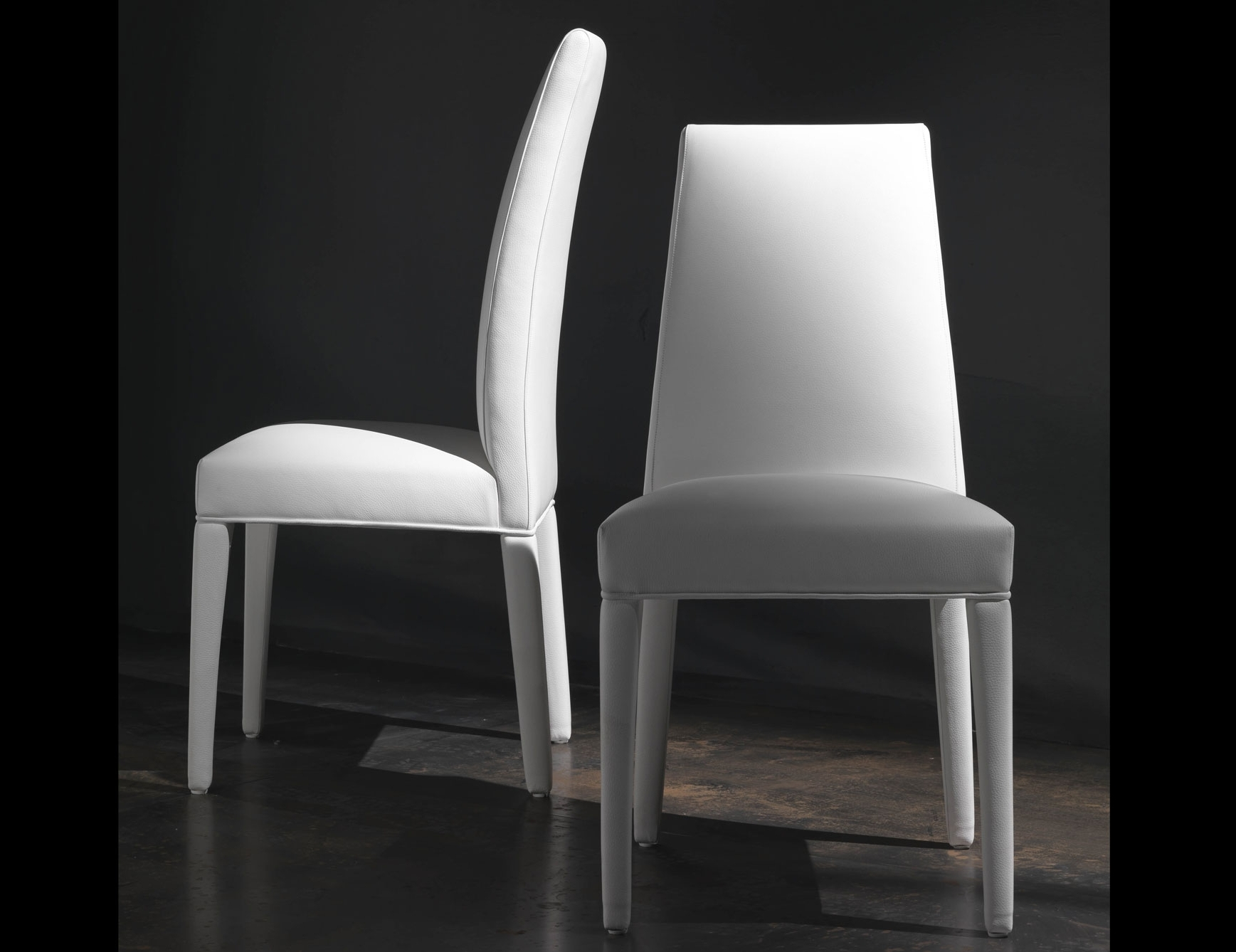 Nella Vetrina Dudu Dud00 Italian Designer White Leather Dining Chair Inside Best And Newest White Leather Dining Chairs (Gallery 6 of 25)