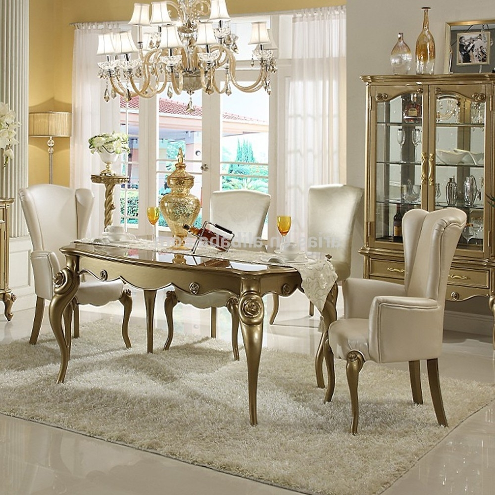 New Classic Round Glass Dining Table And 6 Chairs - Buy Round Glass throughout Famous Cheap Glass Dining Tables And 6 Chairs
