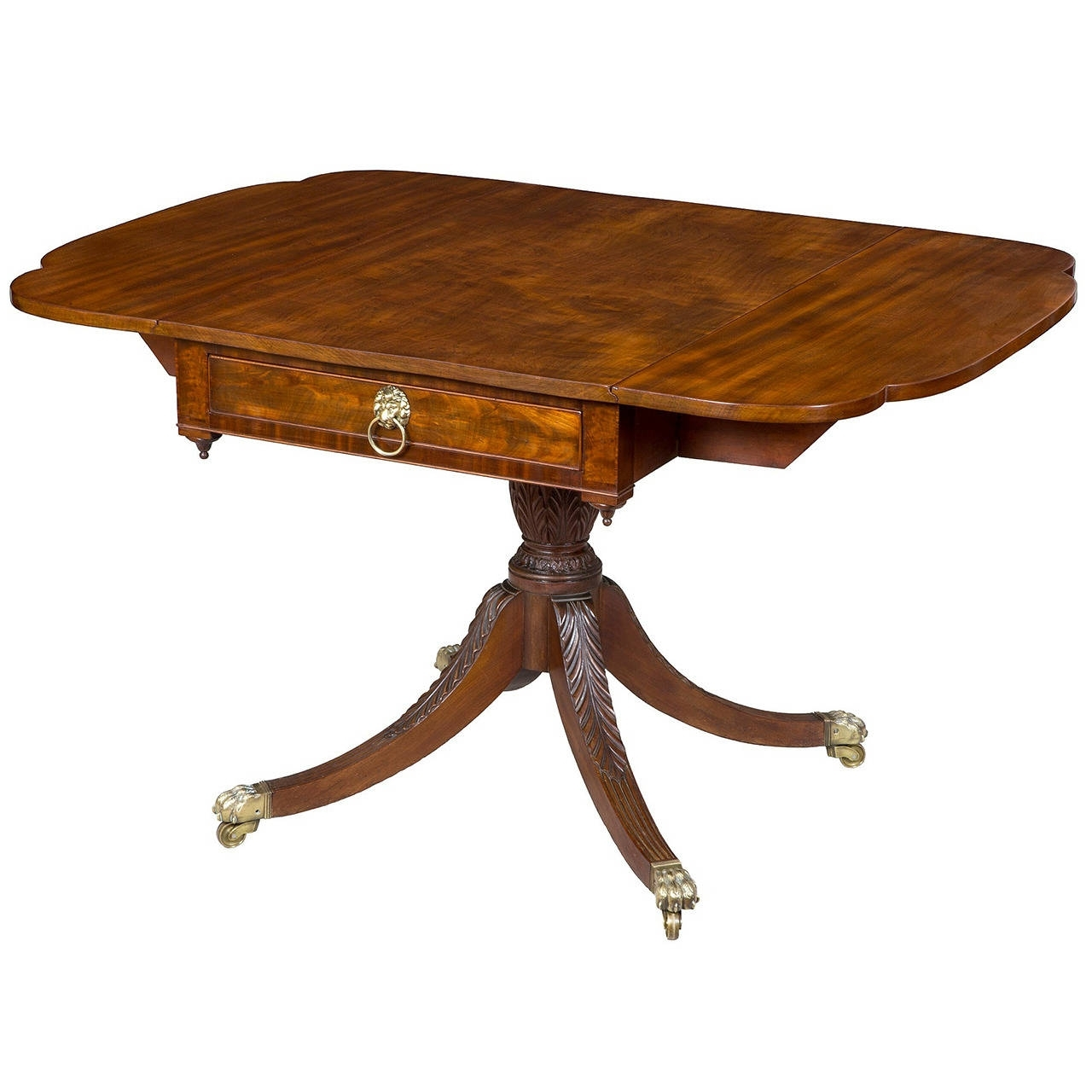 New York Dining Tables Inside Best And Newest Sheraton Mahogany Dining Table, New York, Circa 1810 For Sale At 1Stdibs (View 13 of 25)