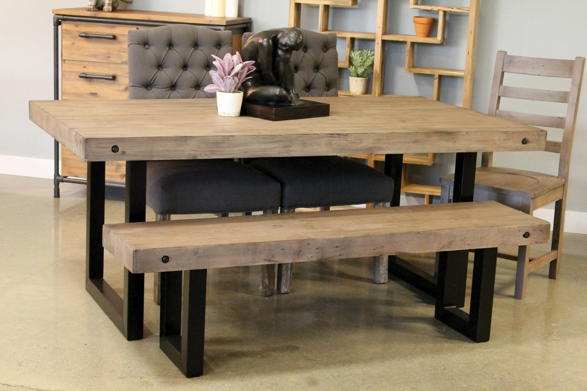 "New York Regular Dining Table 72"" – Salvaged Grey – Boulevard Urban For Most Current New York Dining Tables (View 18 of 25)"