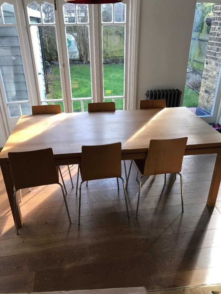Newest 10 Seater Dining Tables And Chairs With Habitat Solid Oak Masello , 8 10 Seater, Dining Table And 6 Oak (View 11 of 25)