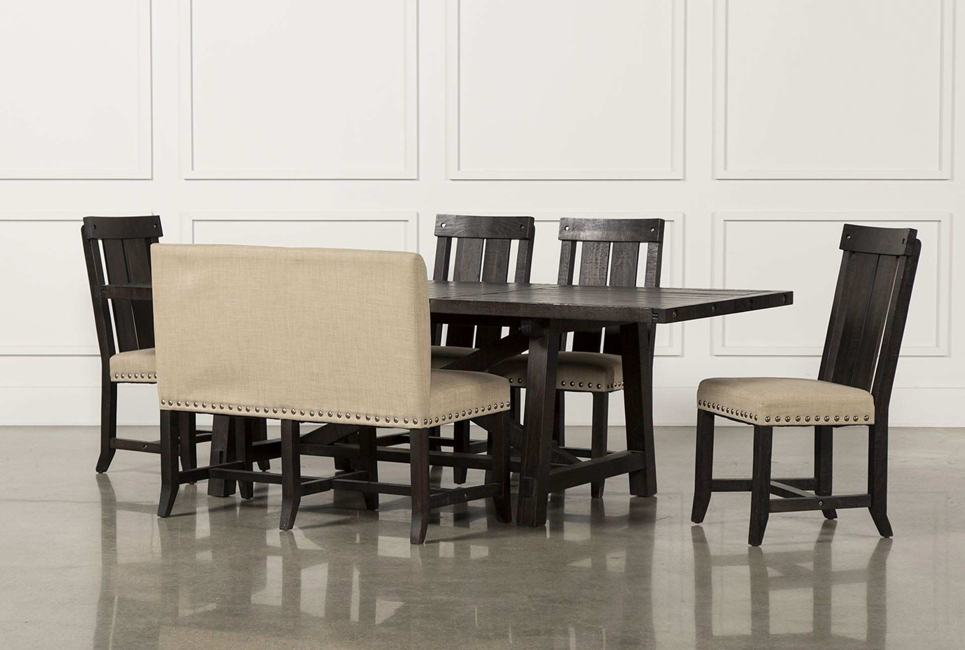 Newest 6 Piece Kitchen Table Sets – Castrophotos Within Jaxon Grey Rectangle Extension Dining Tables (View 16 of 25)
