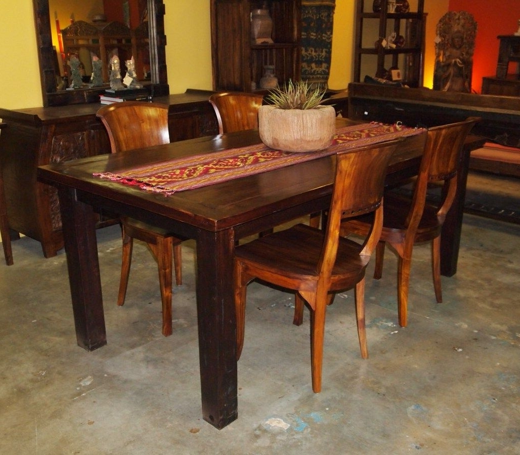 Newest Balinese Dining Tables Pertaining To Reclaimed Teak Dining Table & Teak Chairs From Gadogado (View 20 of 25)