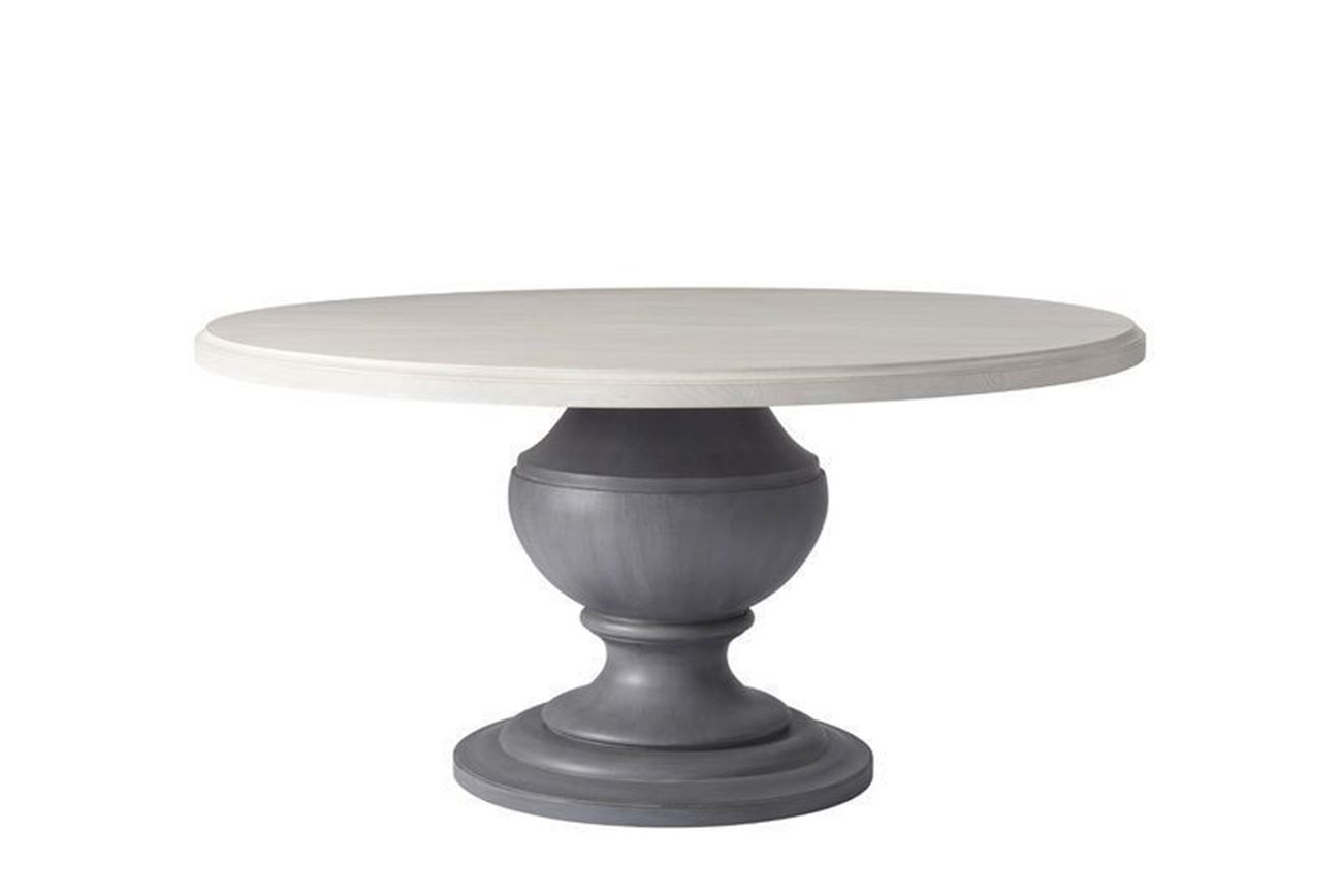Newest Bungalow Round Pedestal Dining Table – Woodstock Furniture For Round Dining Tables (View 12 of 25)