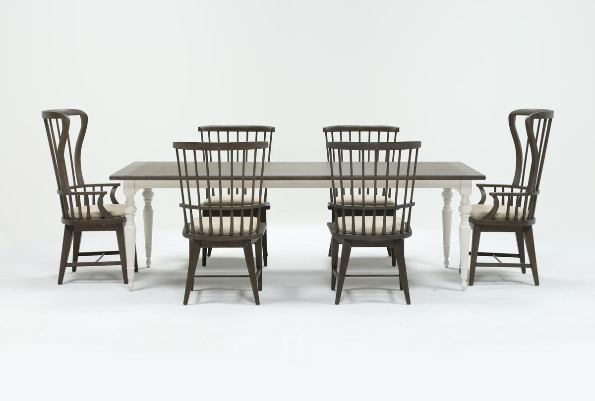 Newest Candice Ii 7 Piece Extension Rectangle Dining Set (Gallery 2 of 25)