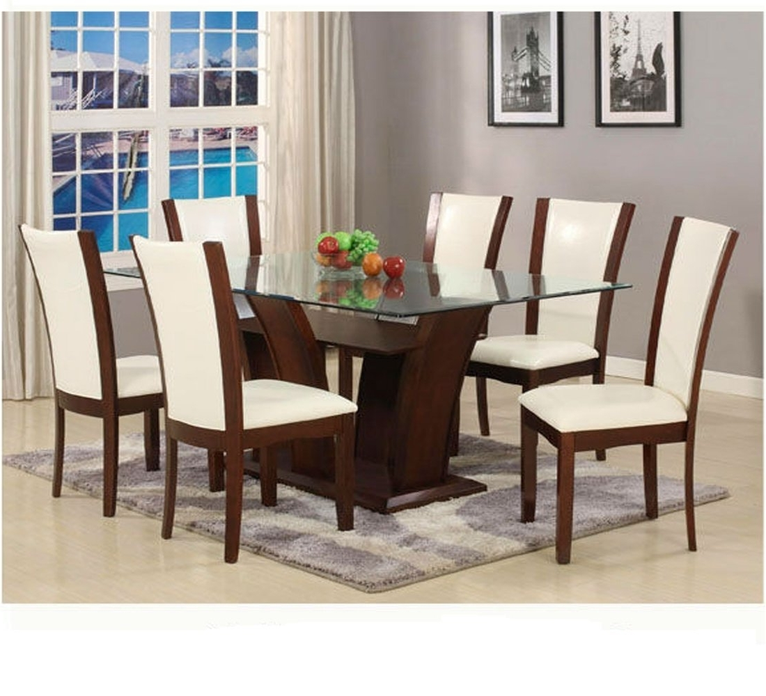 Newest Cheap White Glass Top Dining Table, Find White Glass Top Dining With Delfina 7 Piece Dining Sets (View 20 of 25)