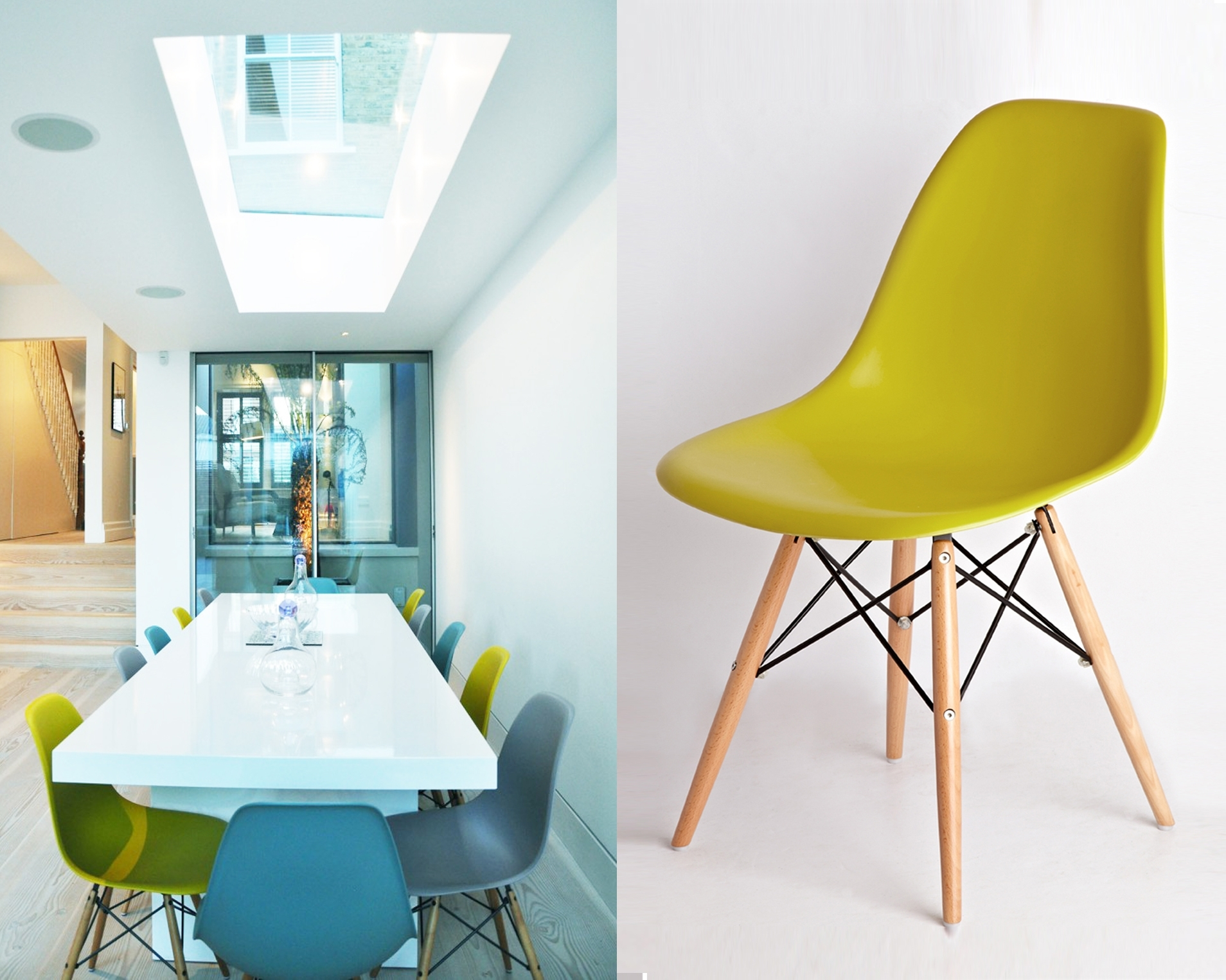 Newest Colourful Dining Tables And Chairs Pertaining To Get Fruity With Brightly Coloured Kitchen Dining Chairs – Danetti (View 15 of 25)