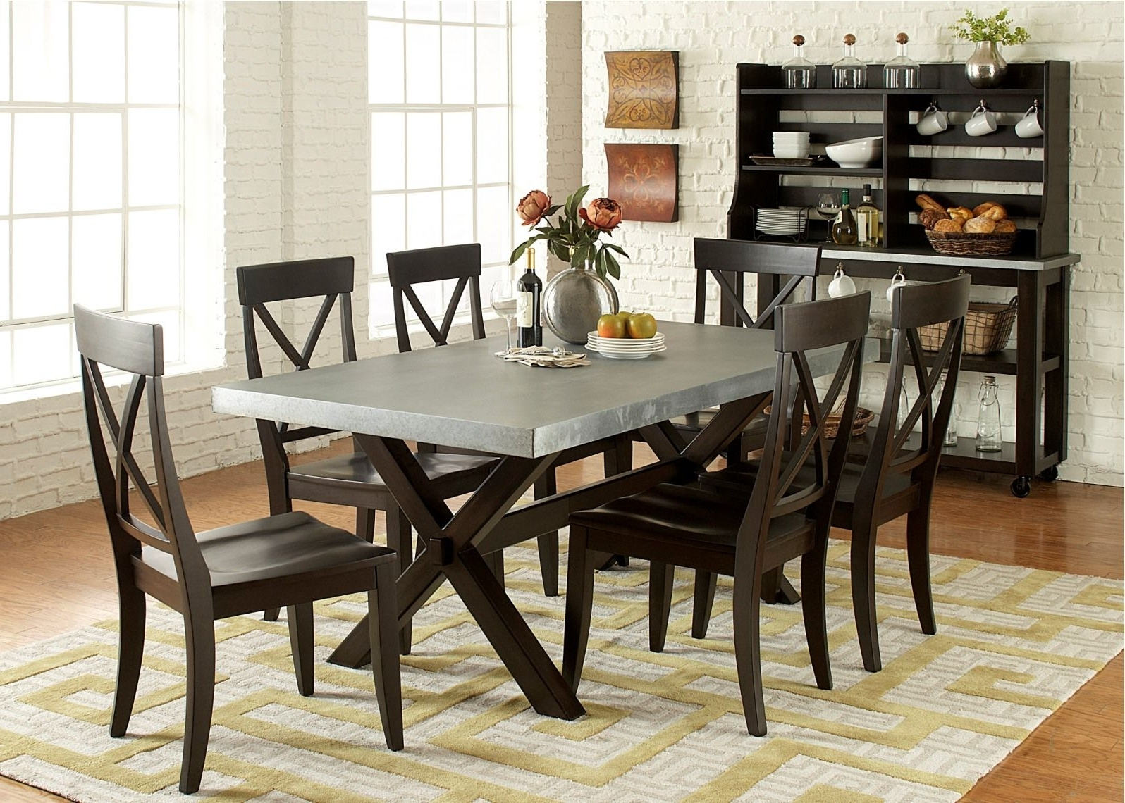 Newest Combs 5 Piece 48 Inch Extension Dining Sets With Mindy Side Chairs intended for Toby 7 Piece Dining Setorren Ellis Reviews