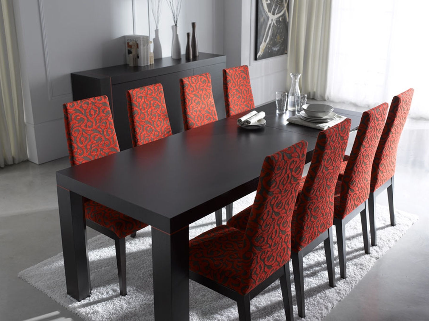 Newest Contemporary Dining Room Tables And Chairs Inside Dining Room : Modern Dining Tables Northern Ireland Room Sets (View 11 of 25)