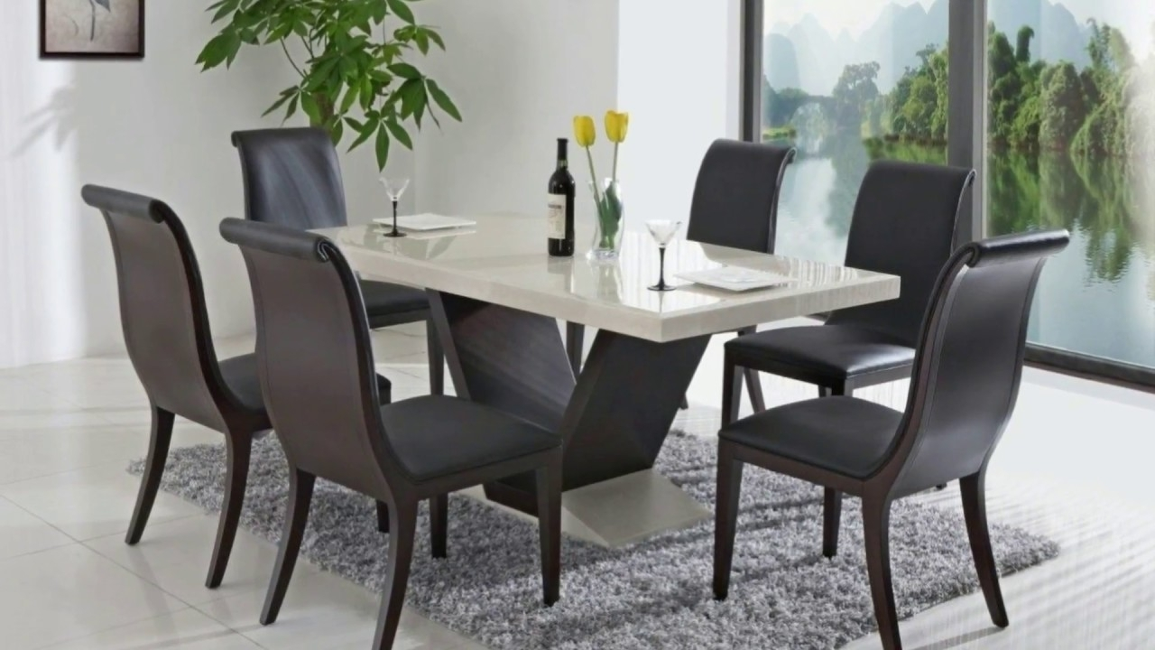 Newest Contemporary Dining Tables Inside Dining Tables Designs 2018 Part 1 (Gallery 22 of 25)