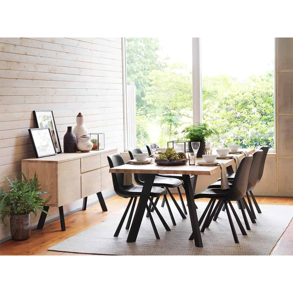 Newest Dark Wood Dining Tables And 6 Chairs for Idaho Reclaimed Dark Wood Dining Table And 6 Chairs Set - Www