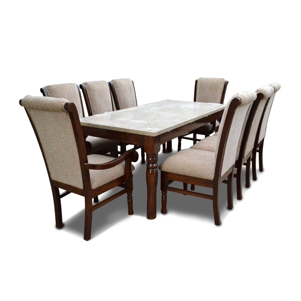 Newest Eight Seater Dining Tables And Chairs Pertaining To Bon Appetite 8 Seater Dining With Marble Top – 8 Seater Dining Table (View 12 of 25)