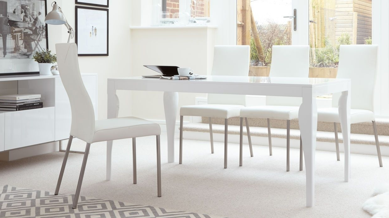 Newest Eva 6 Seater White Gloss Dining Table £199.00 (Gallery 11 of 25)