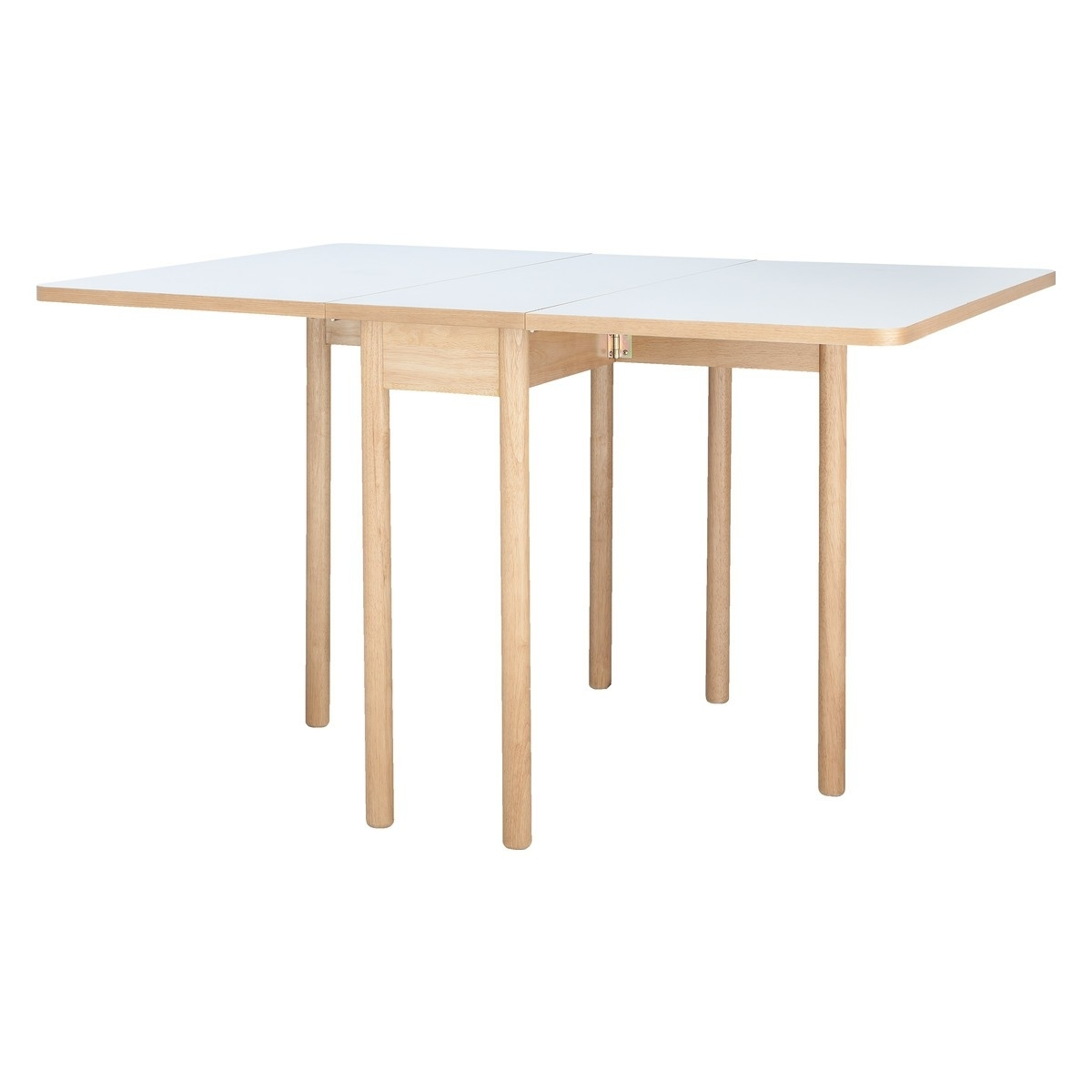 Newest Foldaway Dining Tables Regarding Suki 2 6 Seat White Folding Dining Table (View 18 of 25)