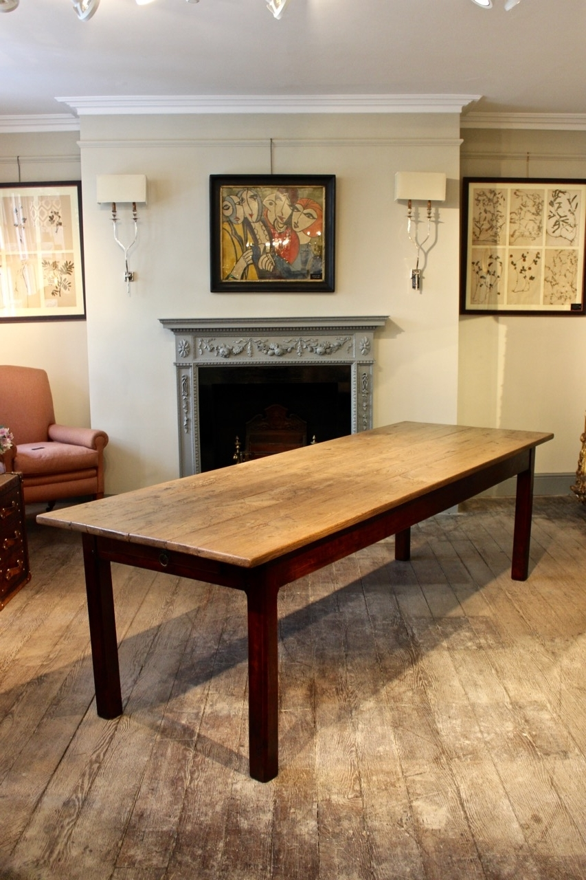 Newest French Farmhouse Dining Tables With Large 19Th Century French Farmhouse Dining Table – Dining Tables (View 10 of 25)