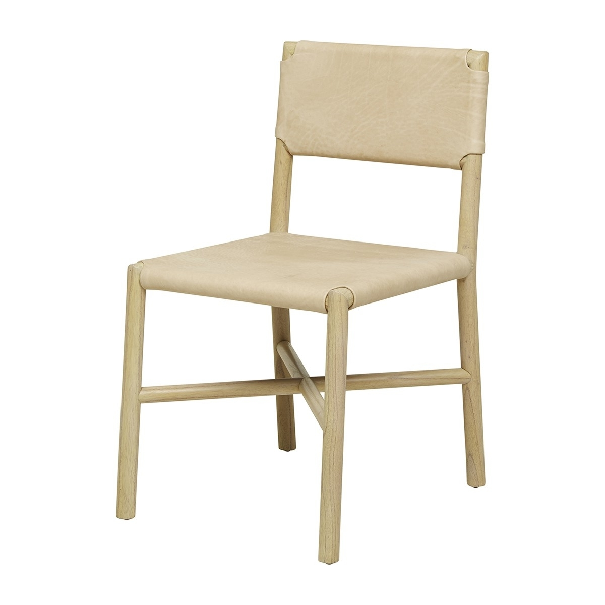 Newest Globe West – Seed Flat Leather Dining Chair (Natural) – Modern With Real Leather Dining Chairs (View 14 of 25)