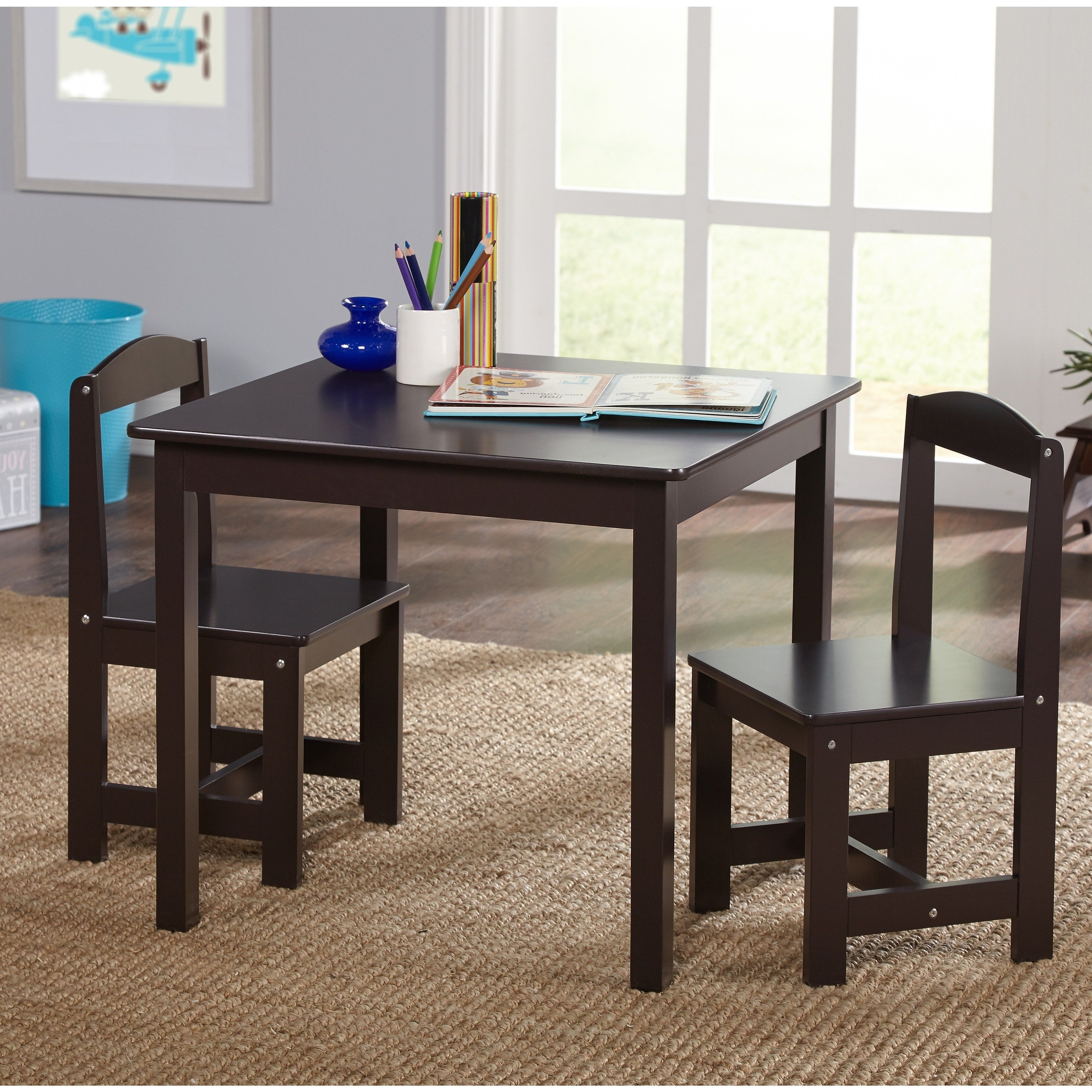Newest Hayden Dining Tables With Shop Simple Living Espresso 3 Piece Hayden Kids Table And Chair Set (View 17 of 25)