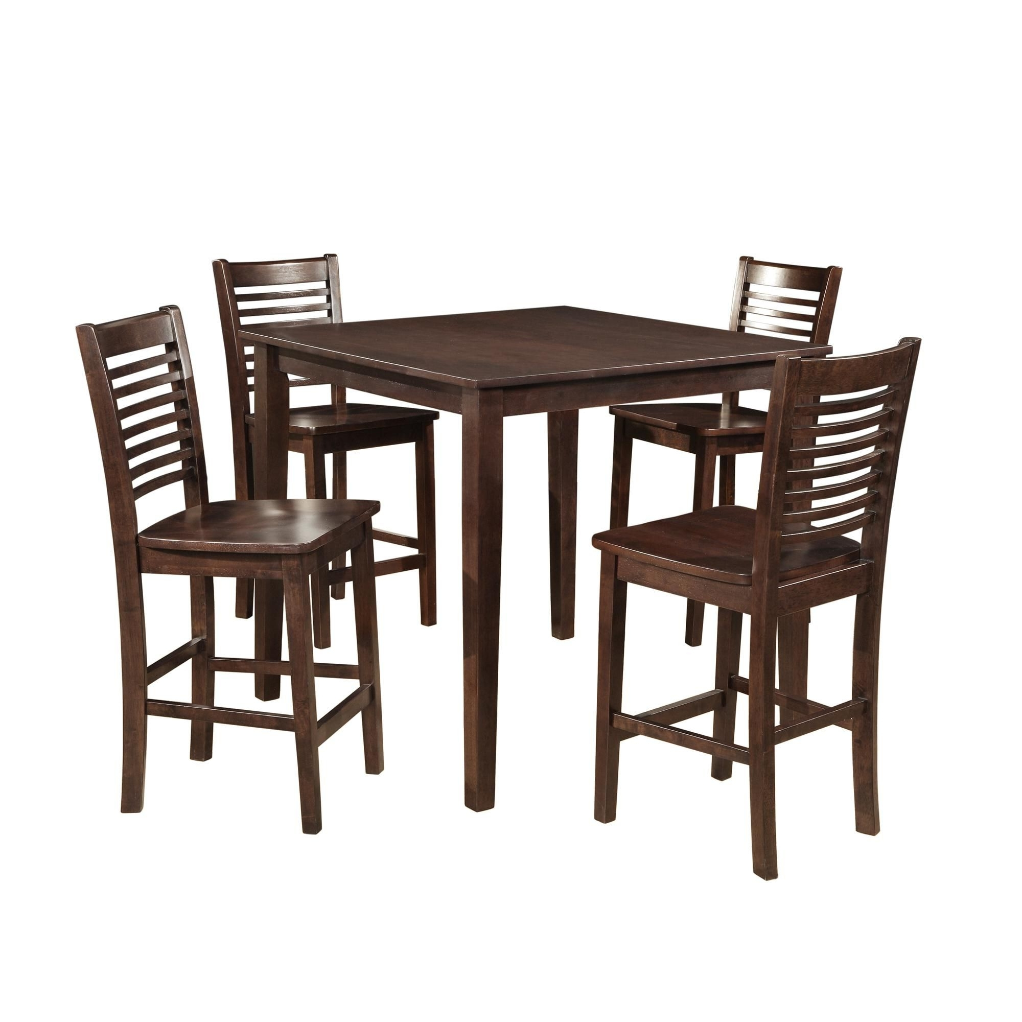 Newest Hyland 5 Piece Counter Sets With Bench In Fancy 5 Piece Counter Height Dining Set (View 17 of 25)
