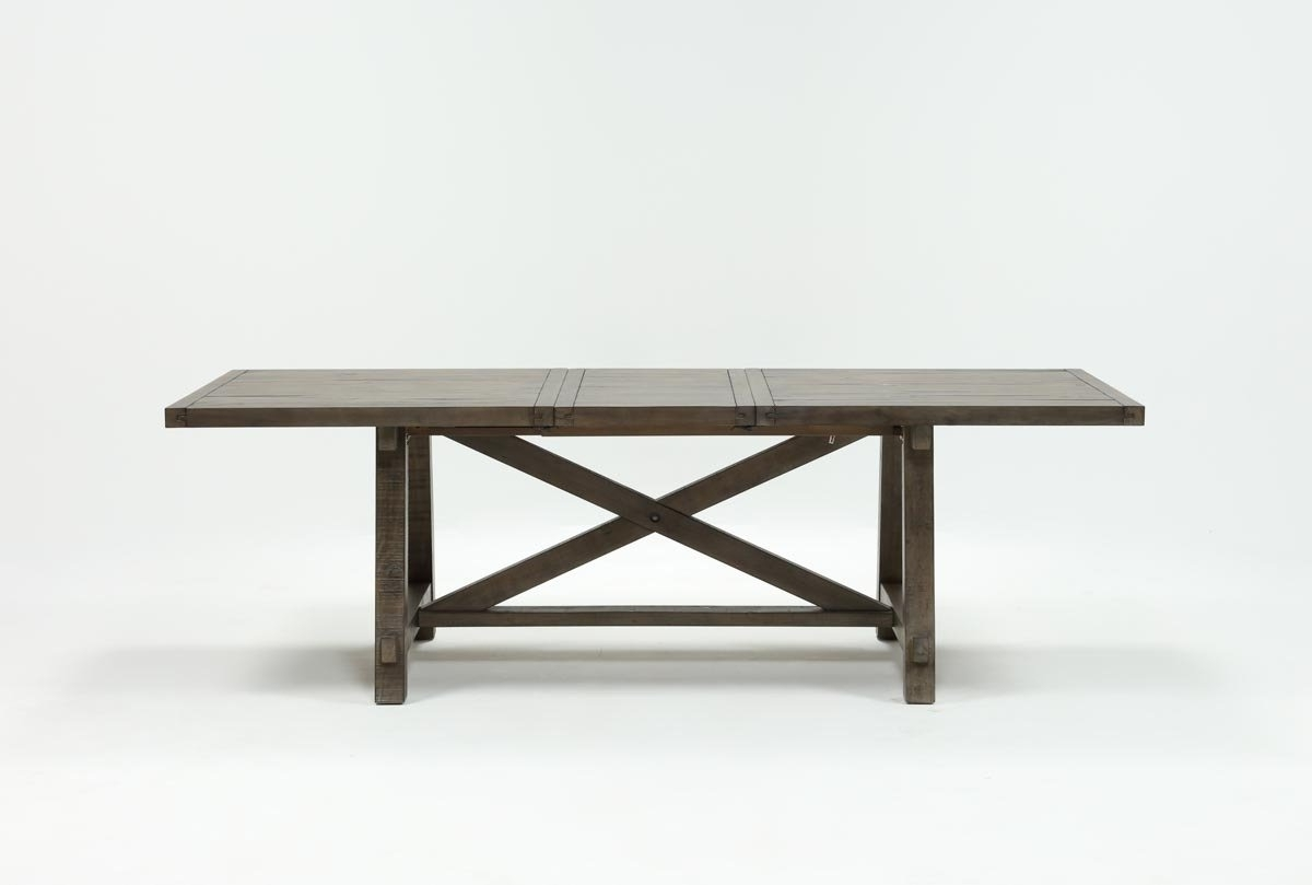 Newest Jaxon Grey Rectangle Extension Dining Table