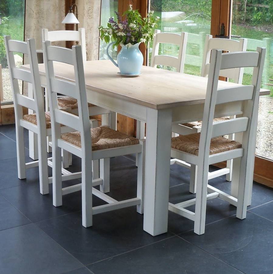Newest Ladder Back Chair Hand Painted In Any Colourrectory Blue With Colourful Dining Tables And Chairs (View 16 of 25)