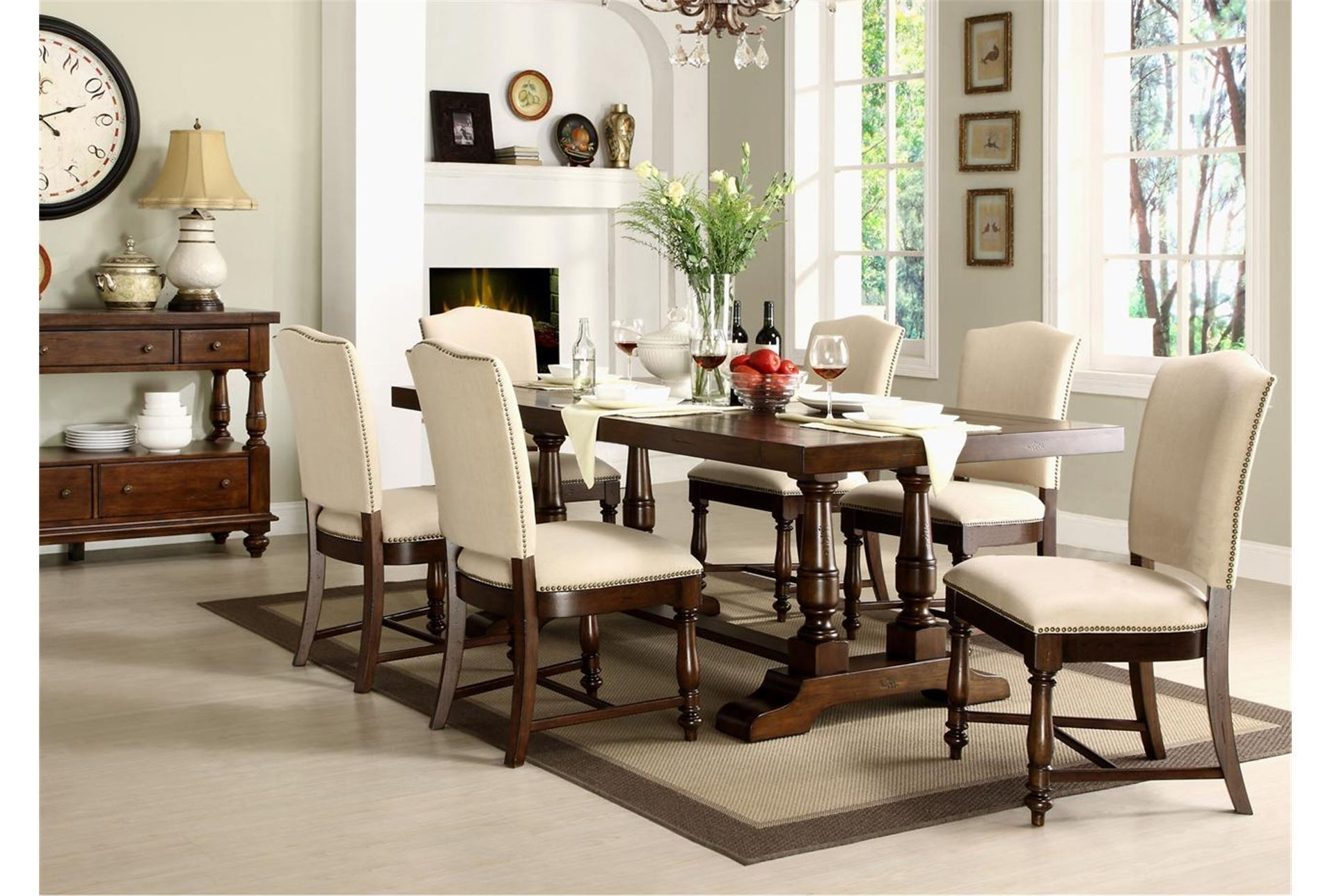 Newest Living Spaces Dining Room Sets Carson Ii 5 Piece Dining Set Living With Regard To Bradford 7 Piece Dining Sets With Bardstown Side Chairs (View 21 of 25)