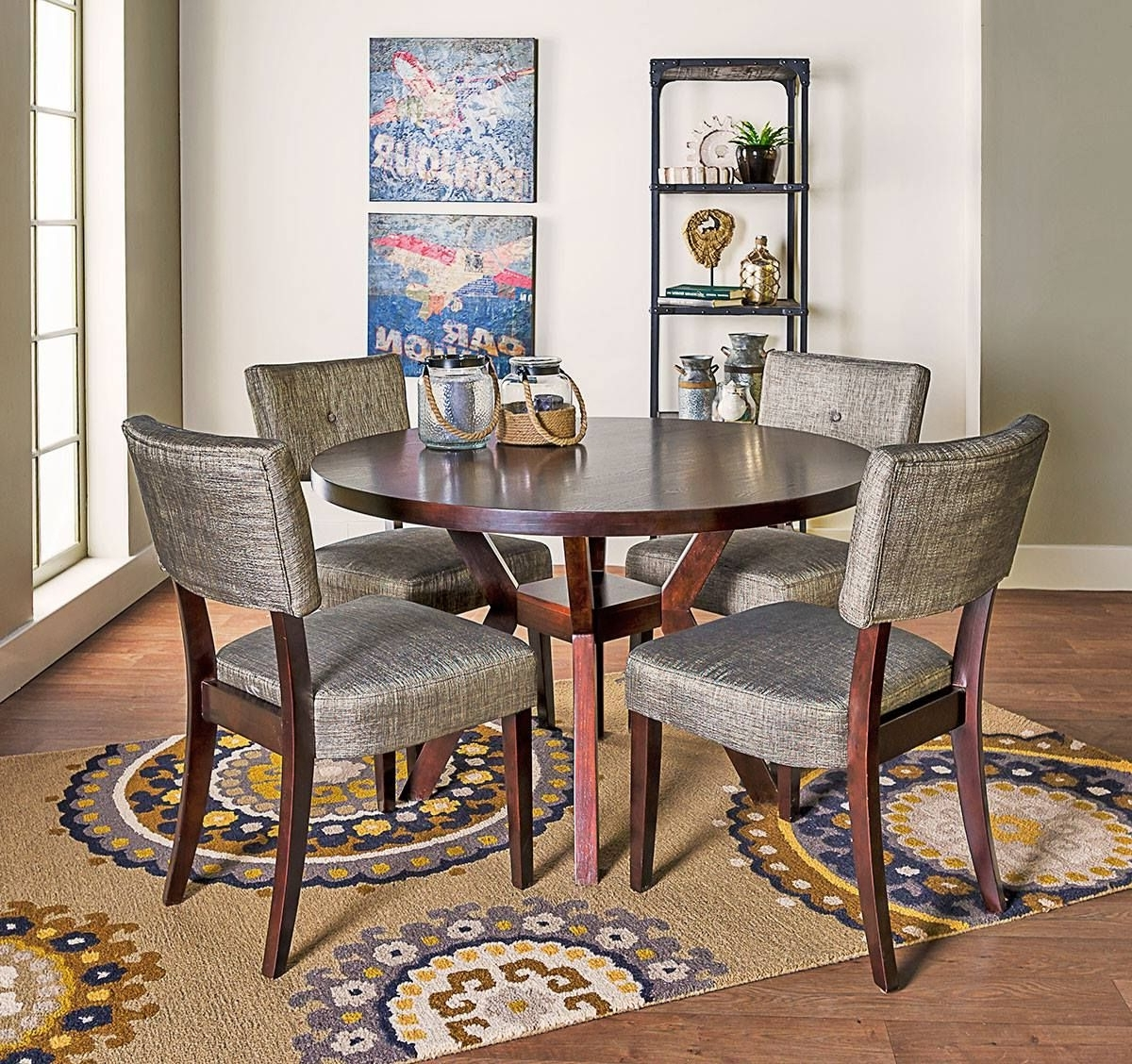 Newest Macie 5 Piece Round Dining Sets With Regard To Animated Accessorizing Adds Adventure To The Macie Dining Set (View 24 of 25)