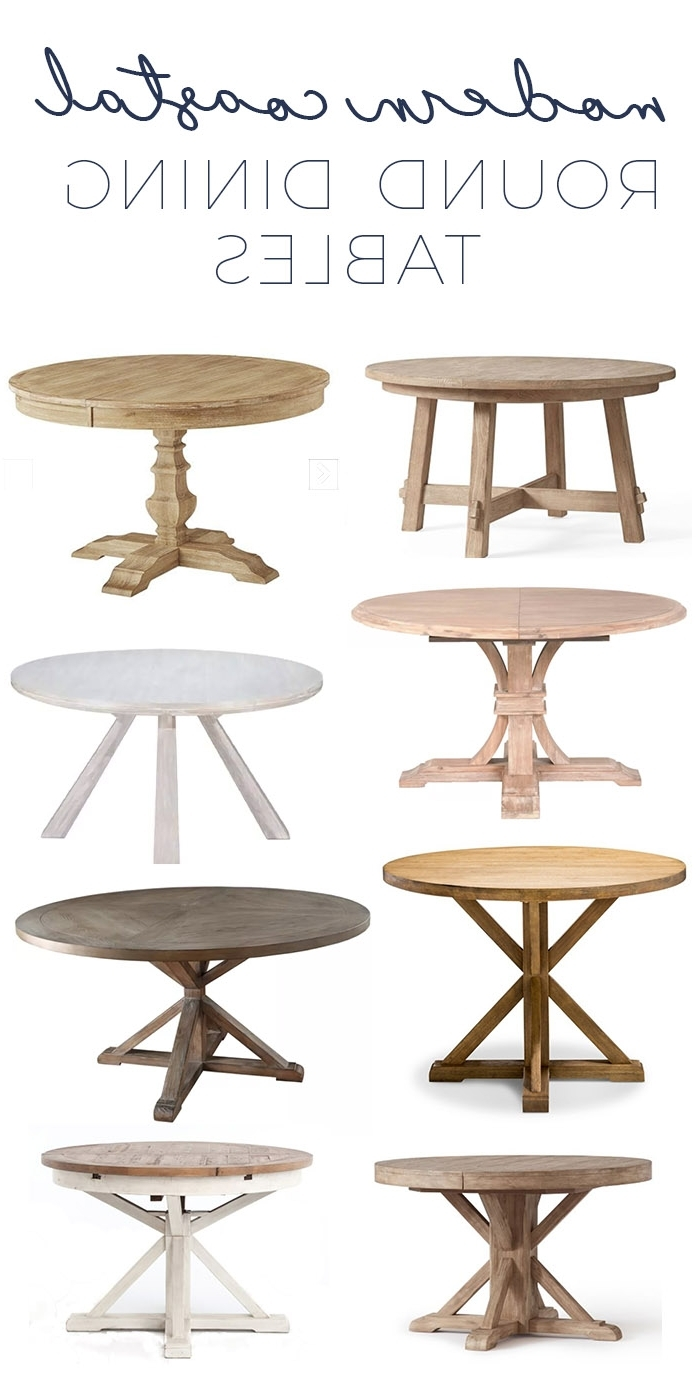 Newest Modern Coastal Round Dining Tables – Gorgeous Options As Low As $400! With Regard To Coastal Dining Tables (View 11 of 25)