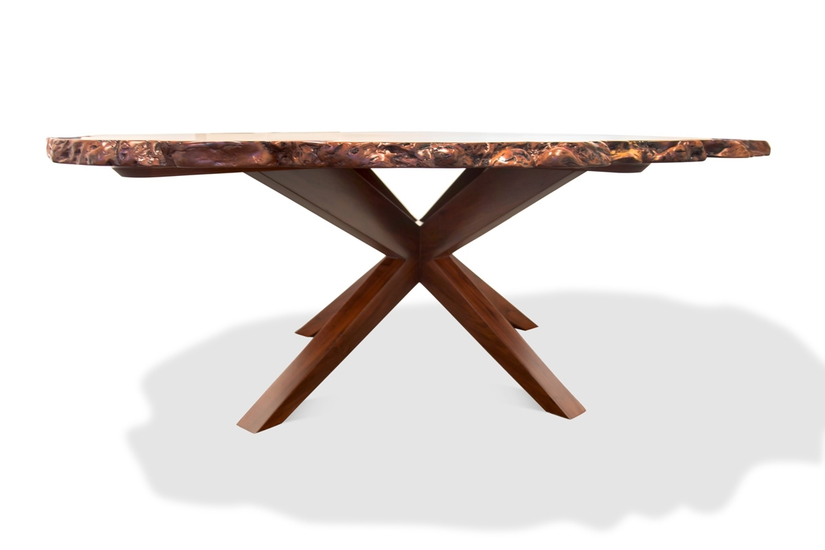 Newest Perth Glass Dining Tables With Karri Burl Dining Table • Fine Furniture Design (View 13 of 25)