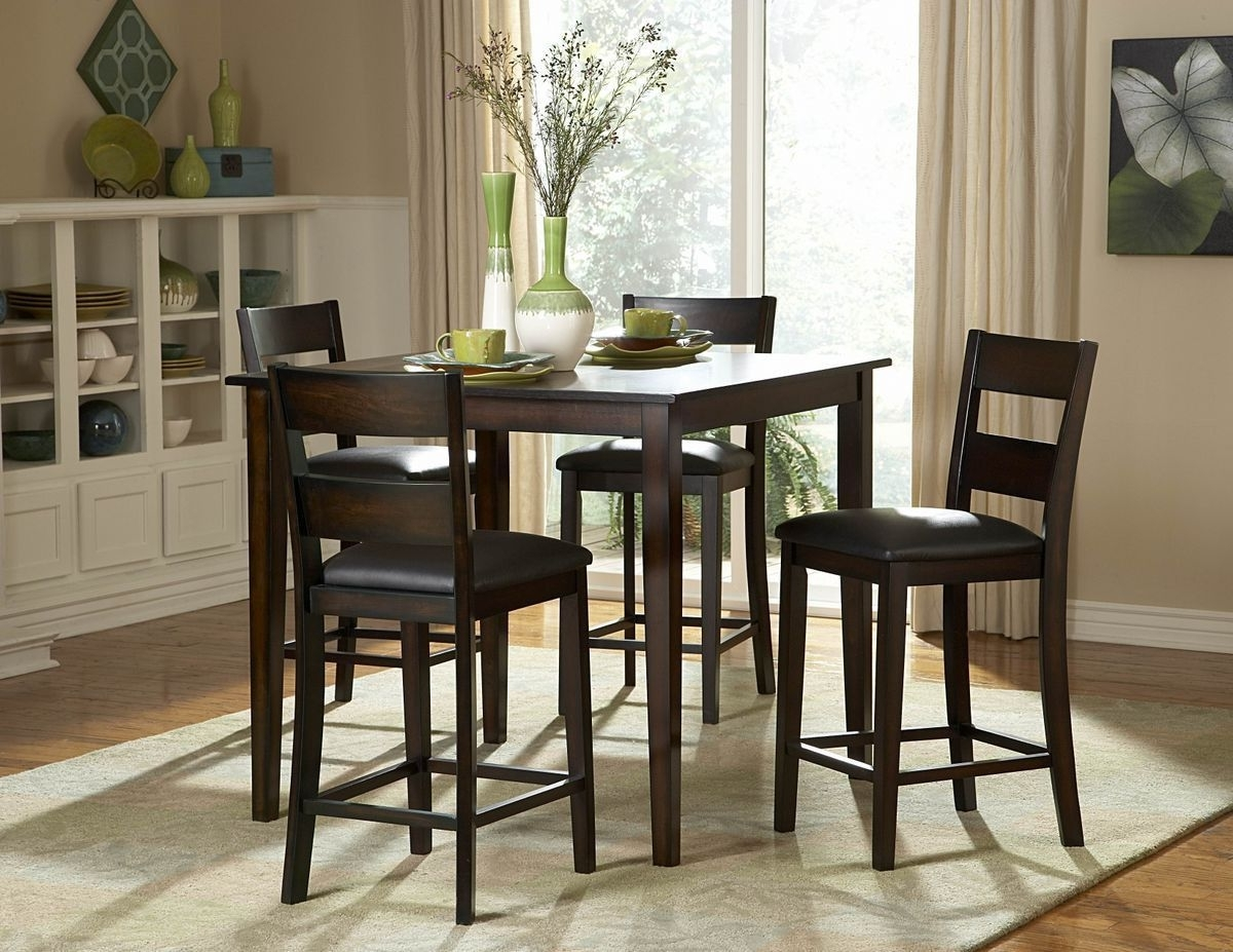 Newest Pierce 5 Piece Counter Sets With Regard To Griffin 5Pcs Counter Height Set 2425 36(Counter Height Table, (View 15 of 25)