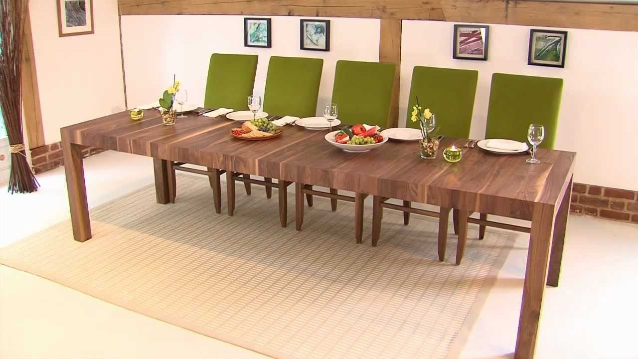 Newest Rectangular Extending Table – Youtube Within Craftsman Rectangle Extension Dining Tables (View 10 of 25)