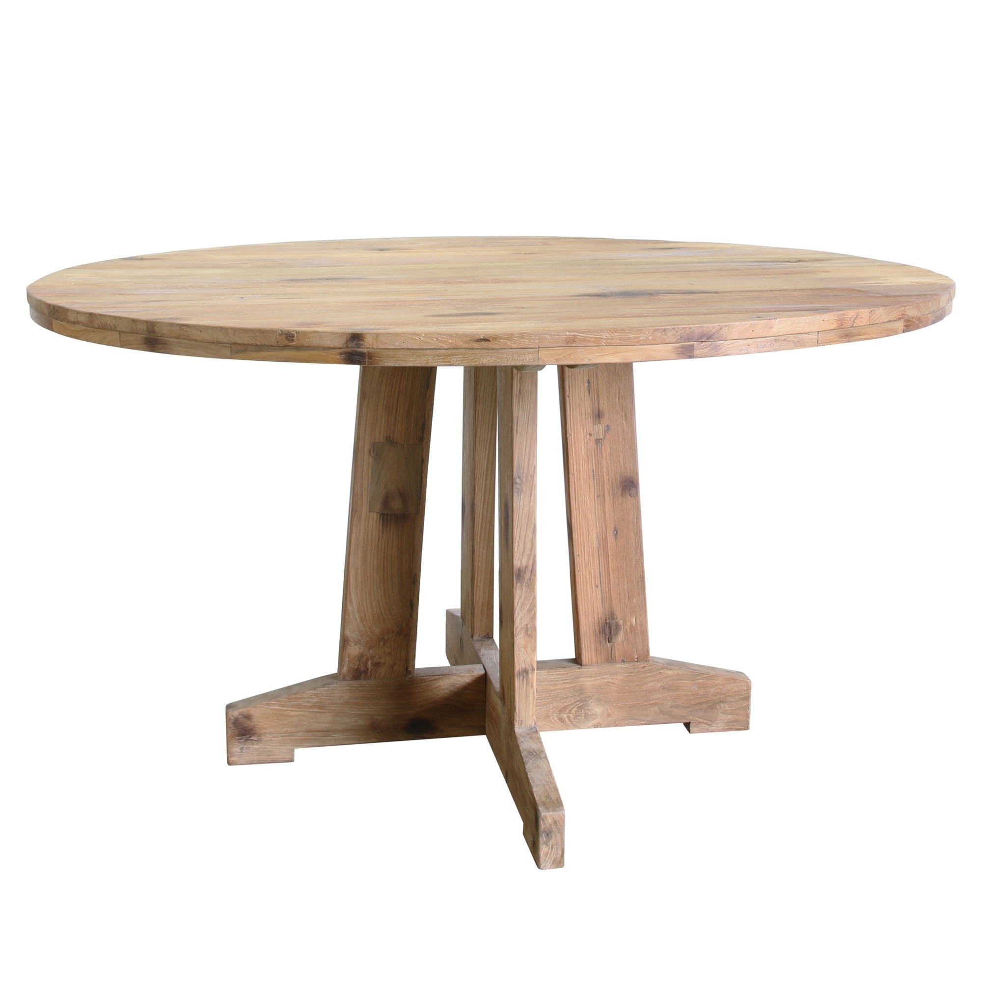 Newest Round Reclaimed Teak Dining Table With Round Teak Dining Tables (Gallery 2 of 25)
